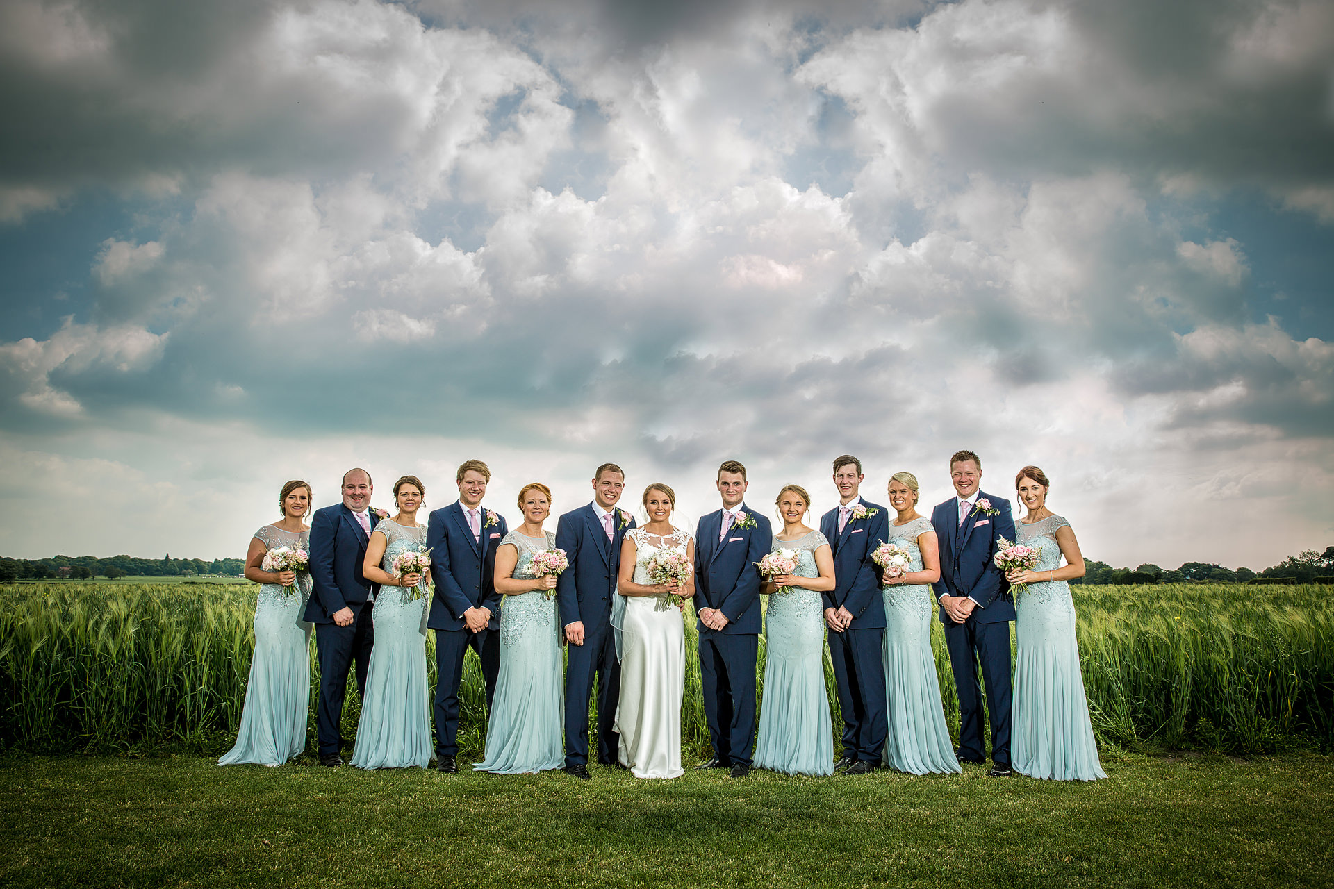 Bridal party group shot