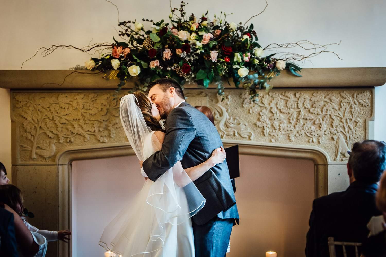 wedding ceremony at Tyn Dwr Hall