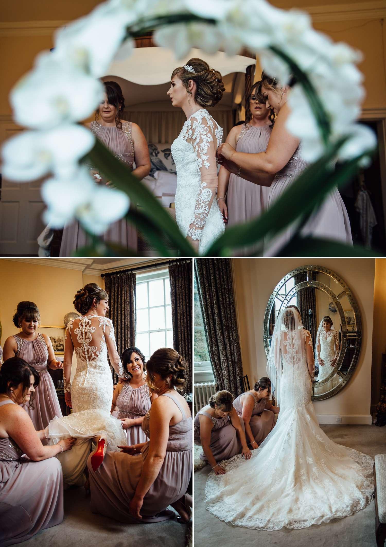 Iscoyd Park bridal suite bride getting ready