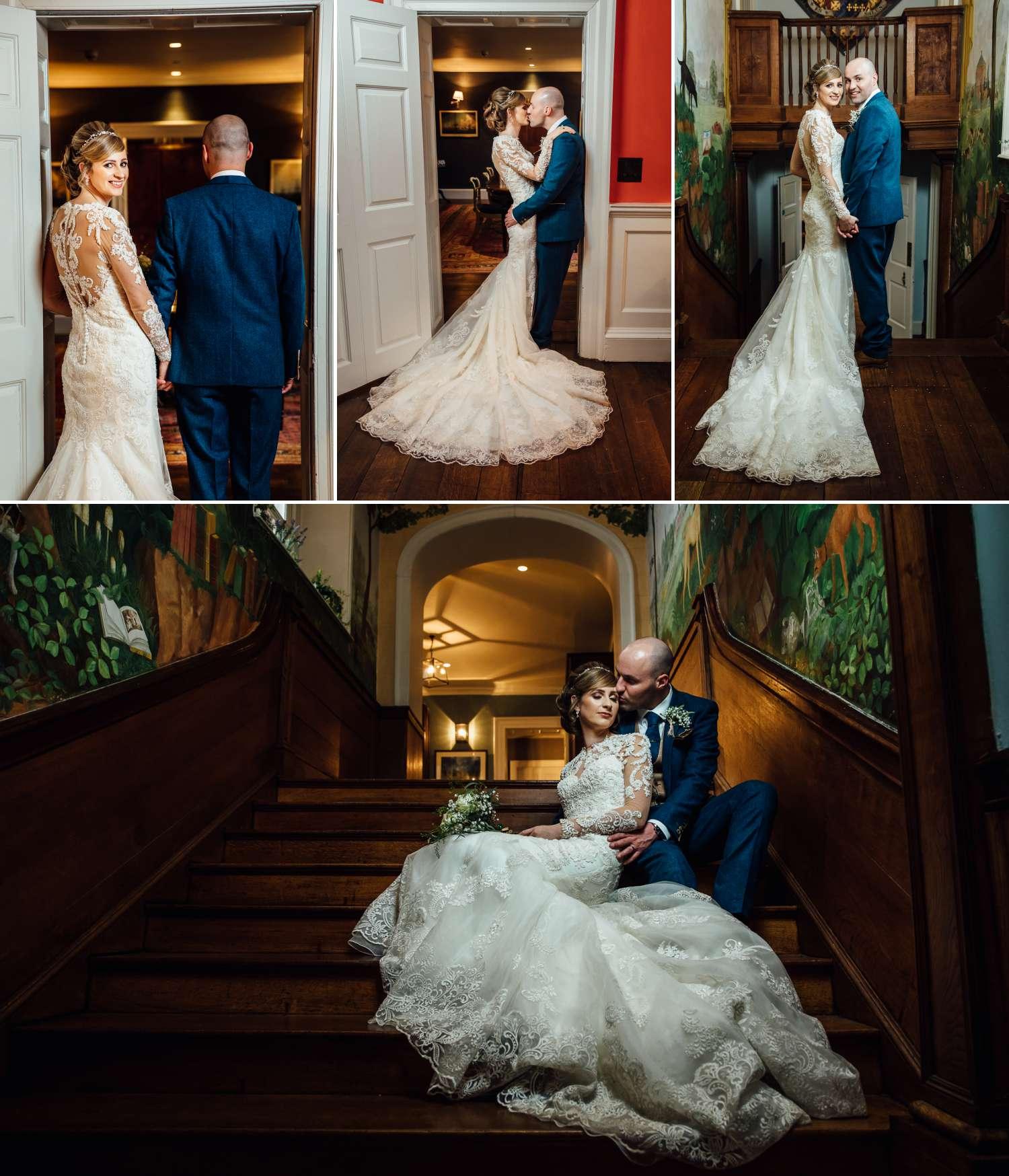Bride and Groom portraits at Iscoyd Park