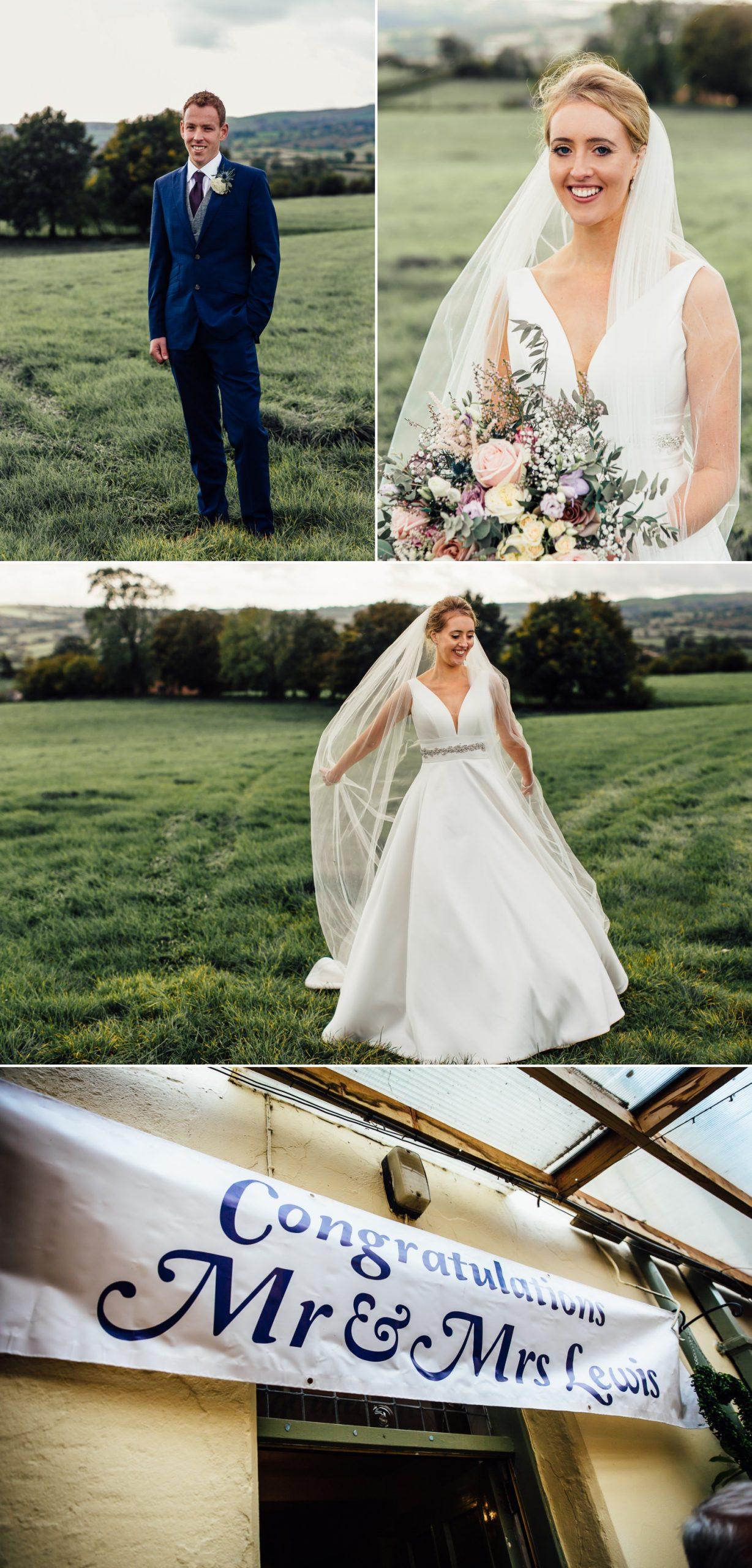 wedding photography portraits of bride and groom