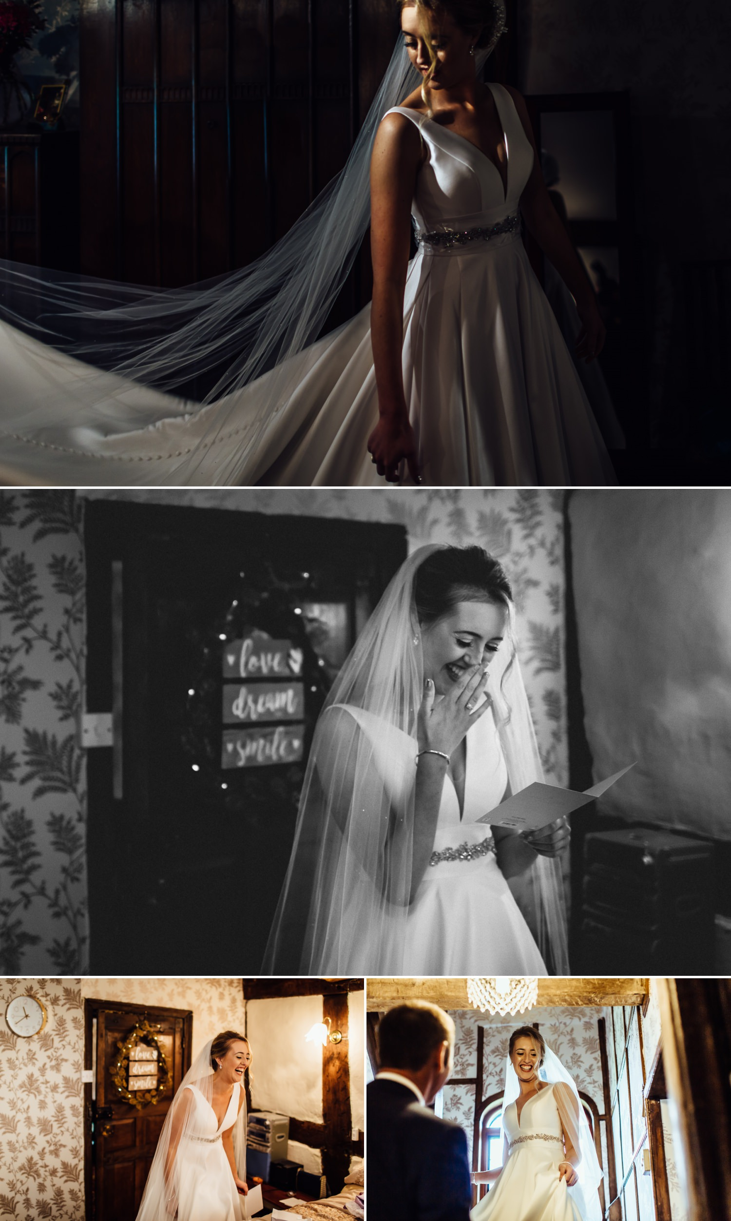 Wedding photography of bride in dress