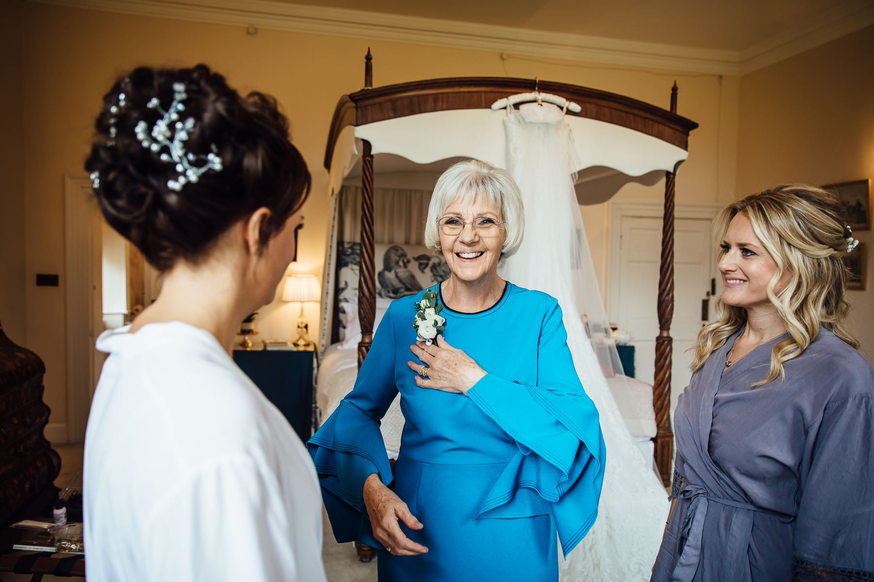 mother of the bride at Iscoyd Park
