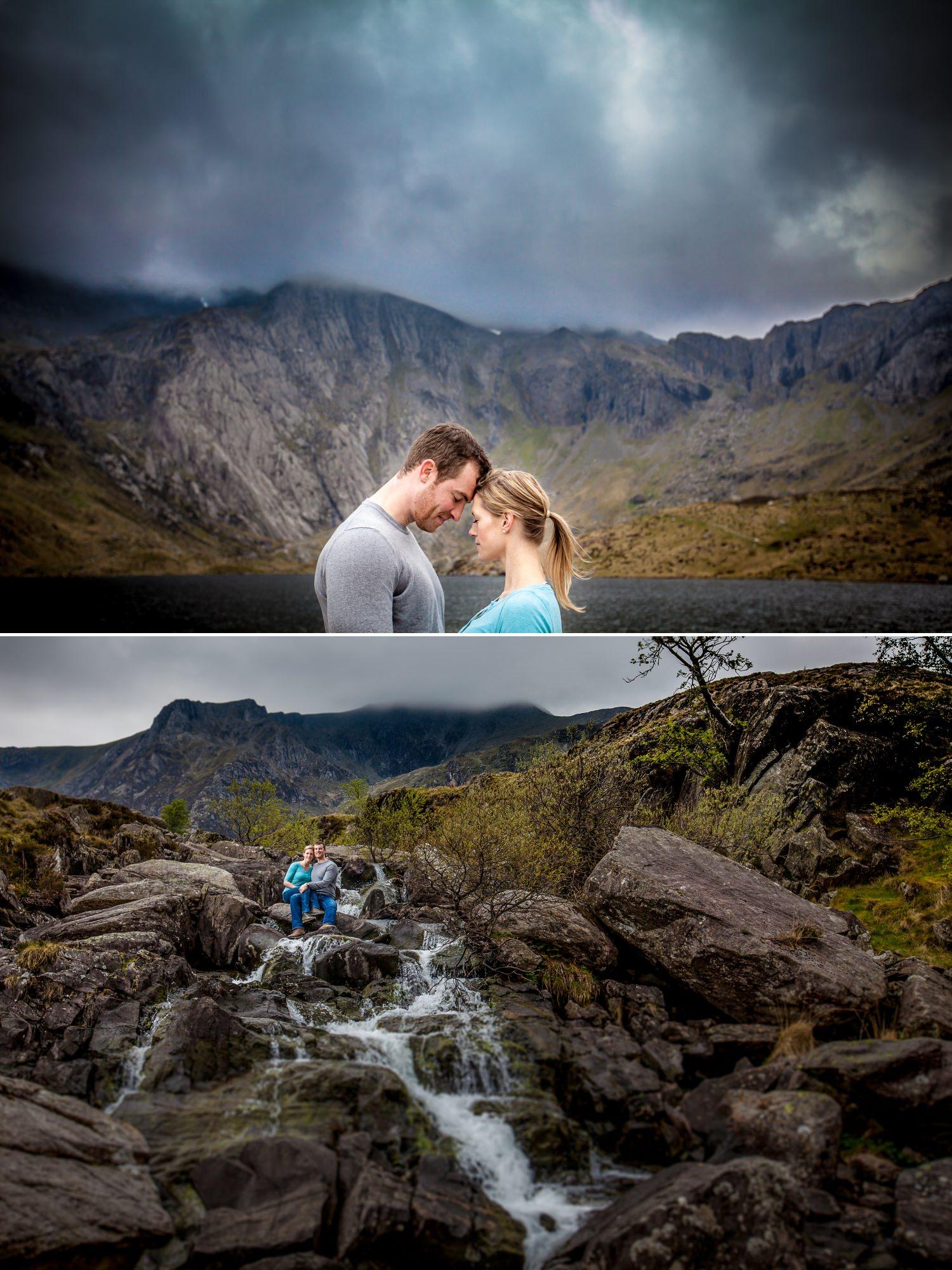 Wedding photographer in Llyn Idwal, Snowdonia