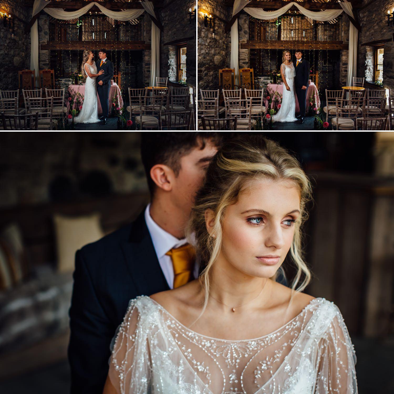 Wedding photography in North Wales Wedding Barn Plas Isaf