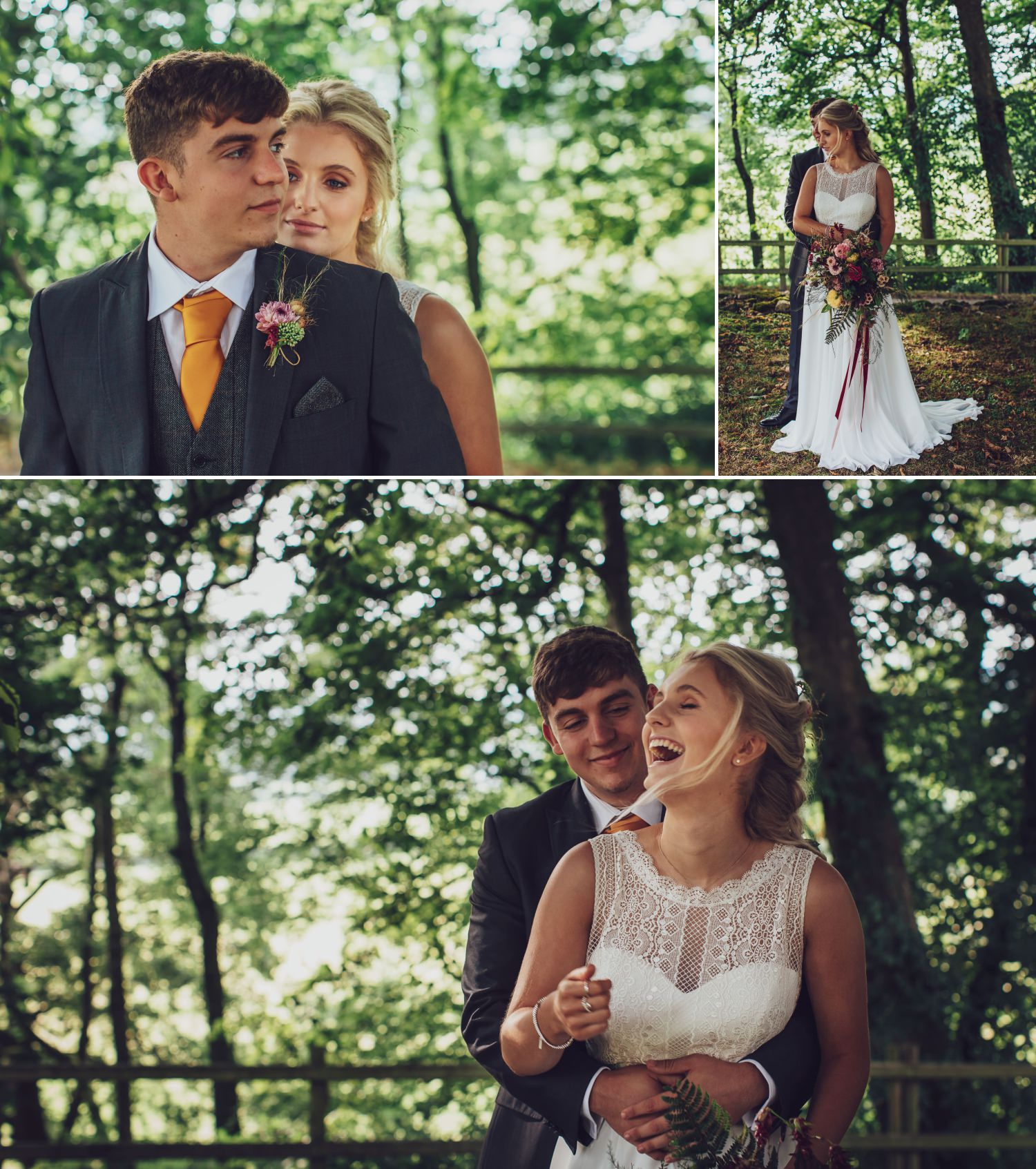 Wedding photography in grounds of plas isaf corwen, north wales