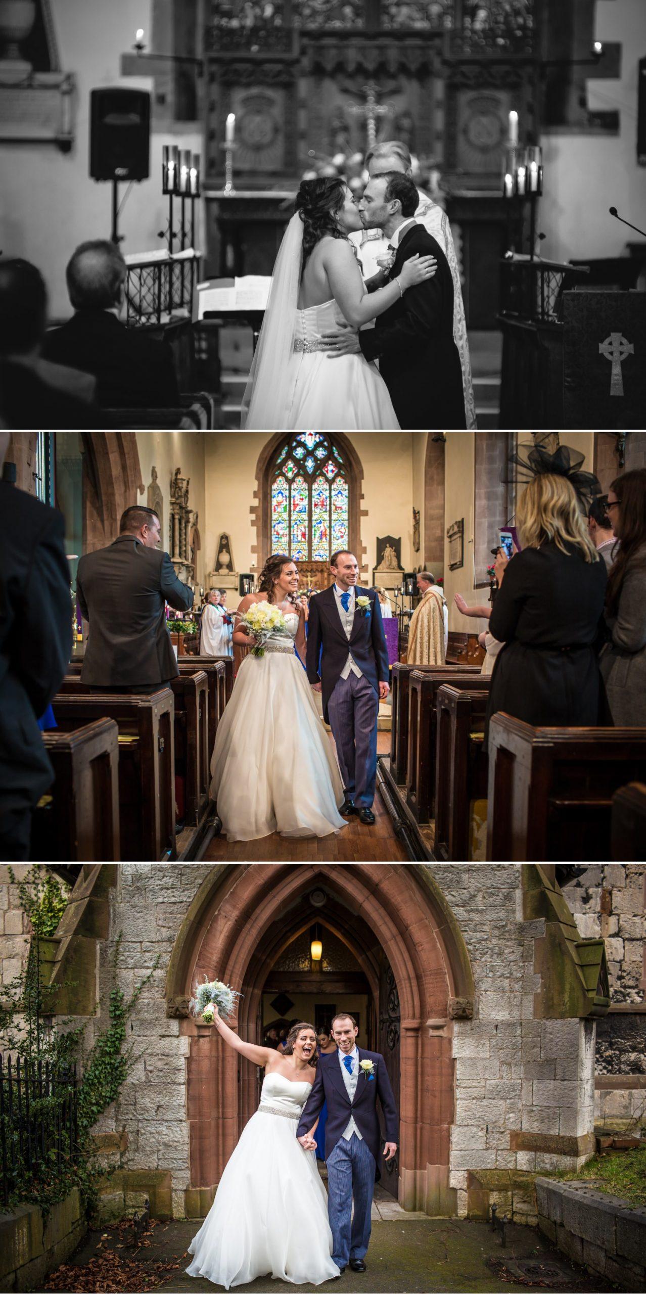 Church ceremony wedding photography in Llandudno North Wales