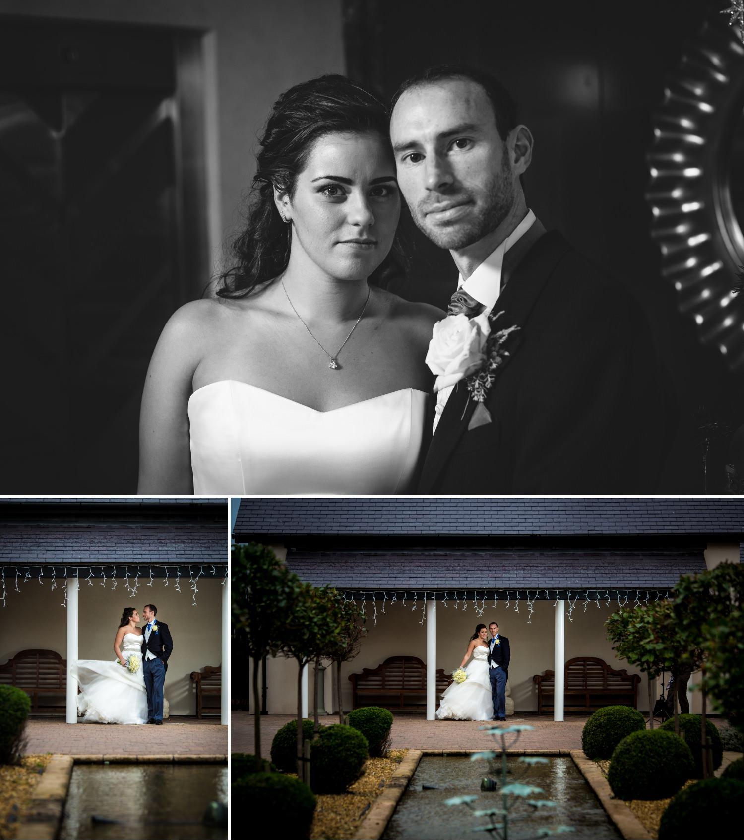 Wedding photography portrait photographs at the quay hotel Llandudno North Wales