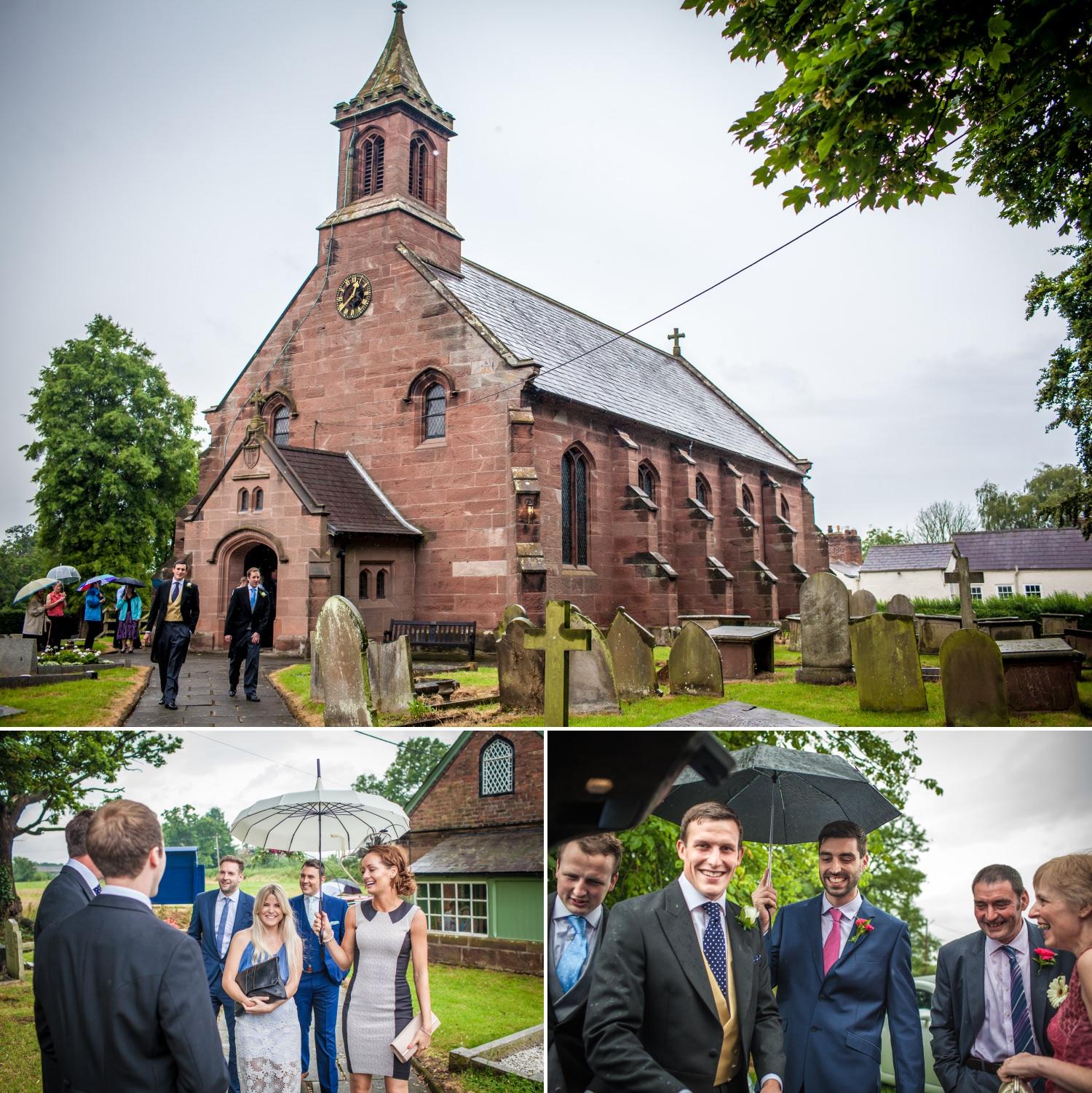 Cheshire wedding photographer, Church, Coddington Cheshire