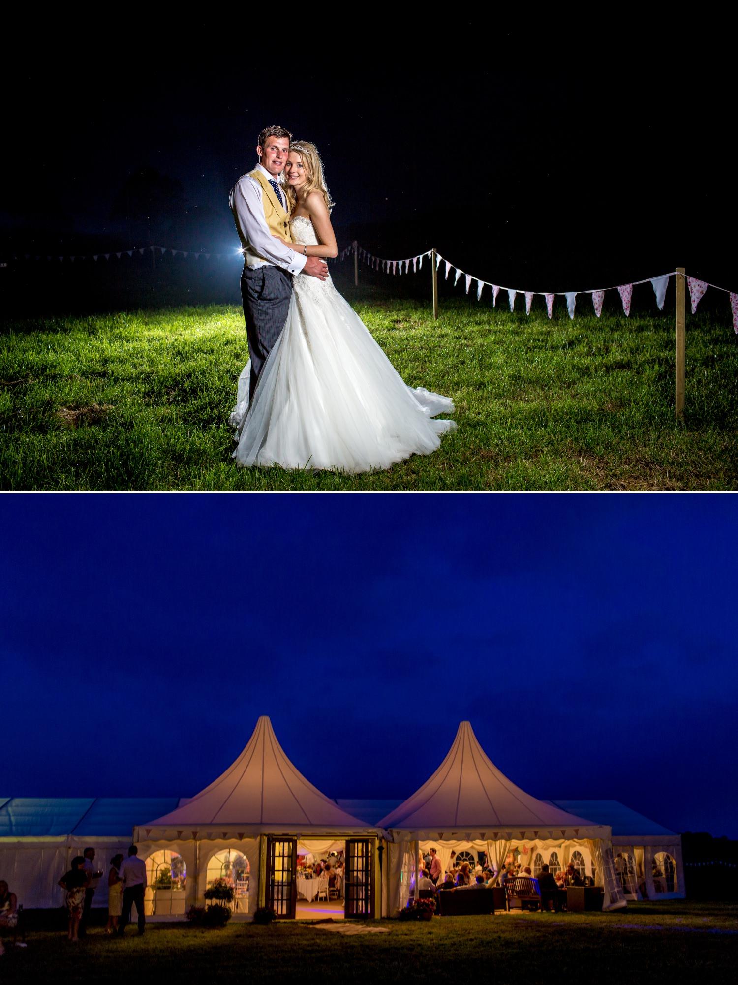 Wedding night photgraphs at farm wedding Cheshire