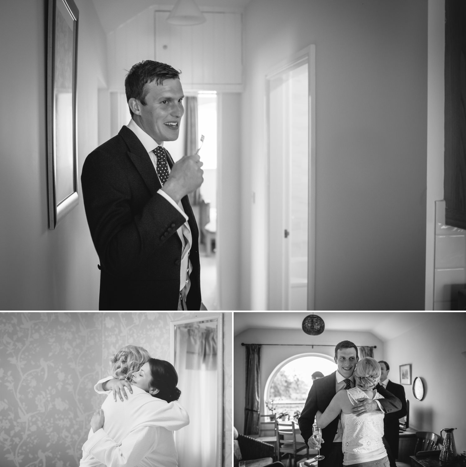 Groom being photographed for wedding in Cheshire