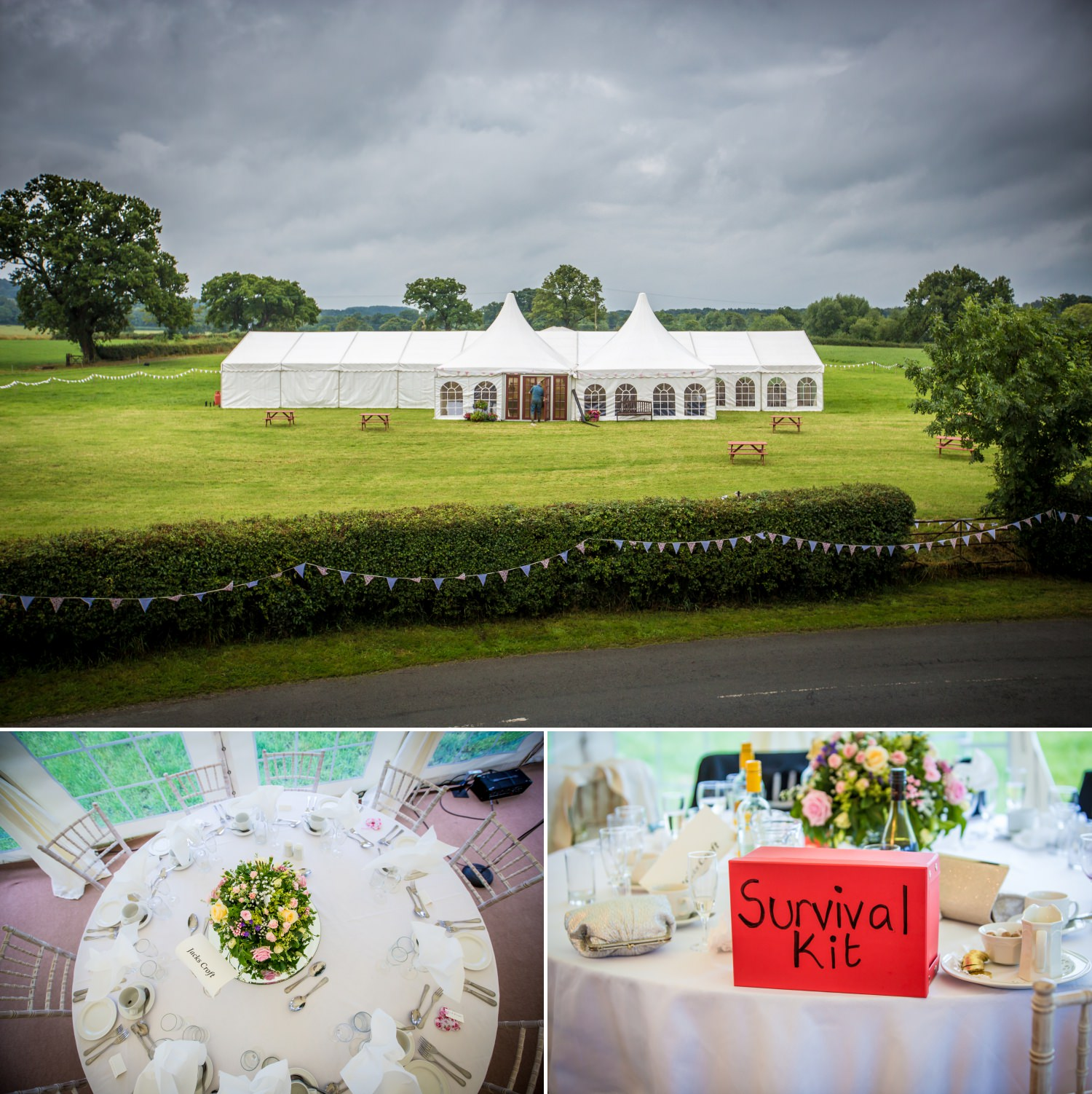 Wedding farm marquee photographer in cheshire