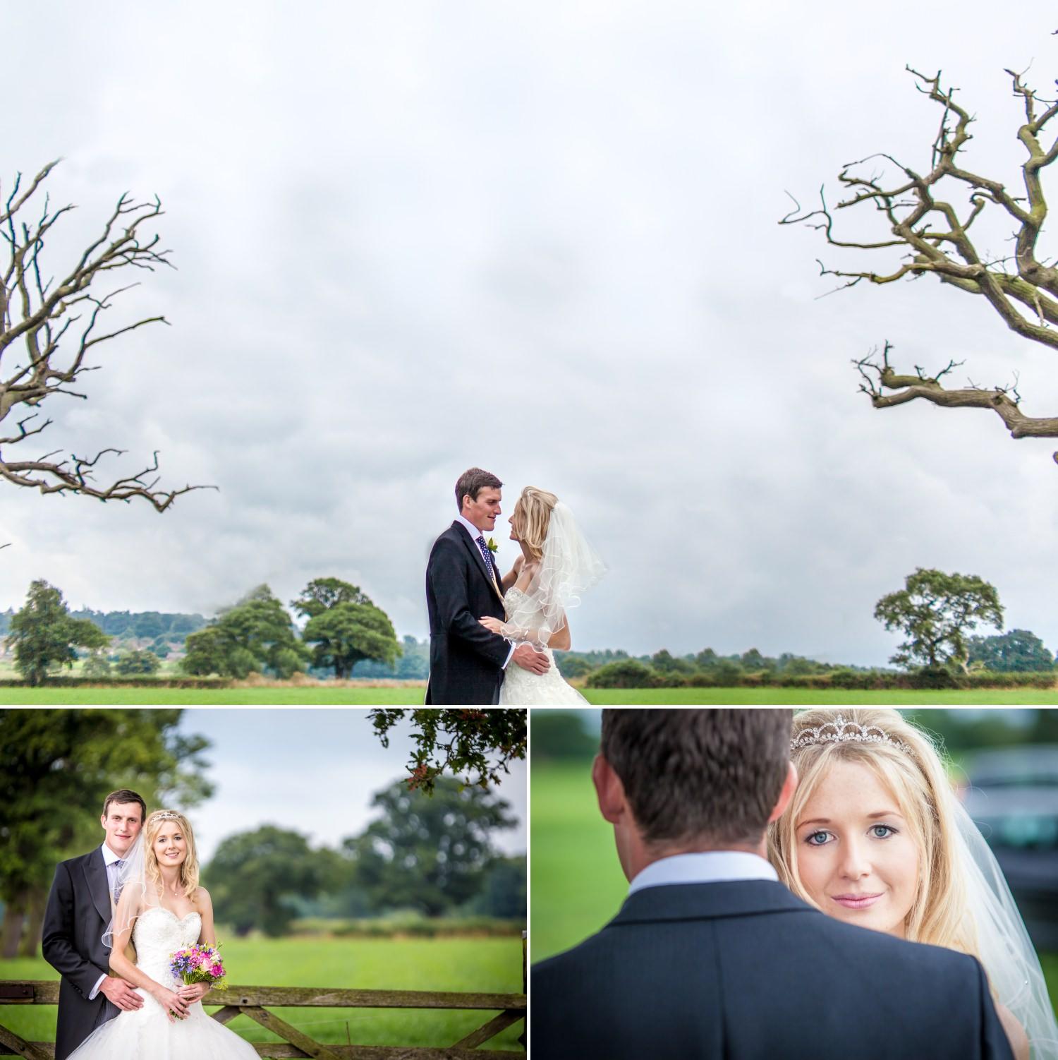 Wedding Photography portraits in Cheshire farm wedding
