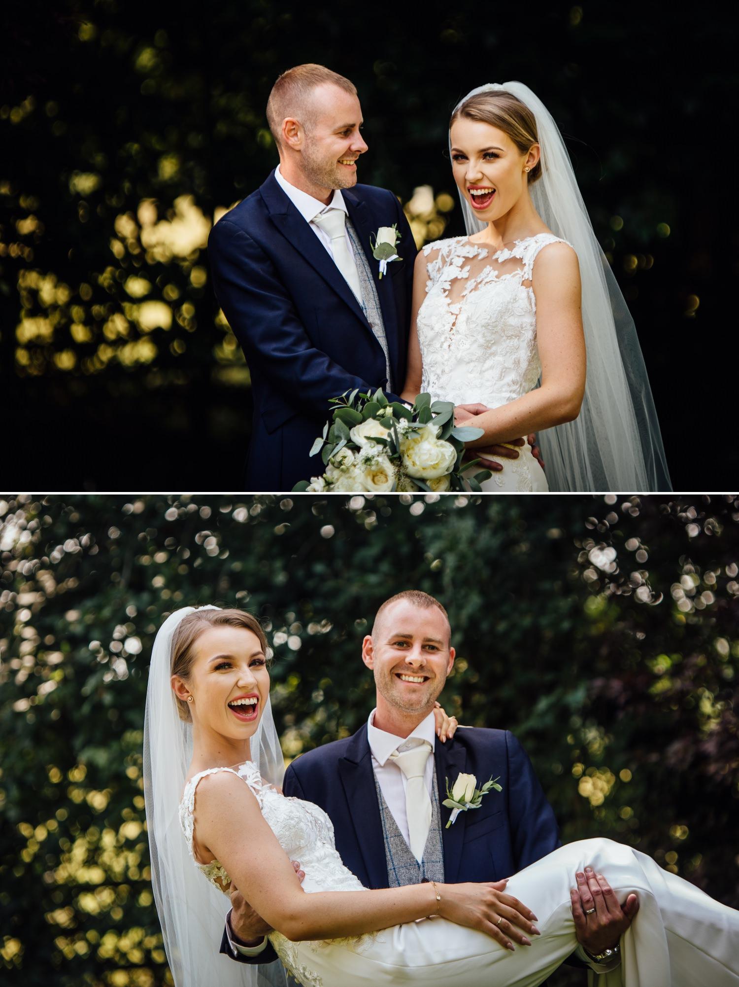 Wedding photography portraits at Milton Hall, Lancashire