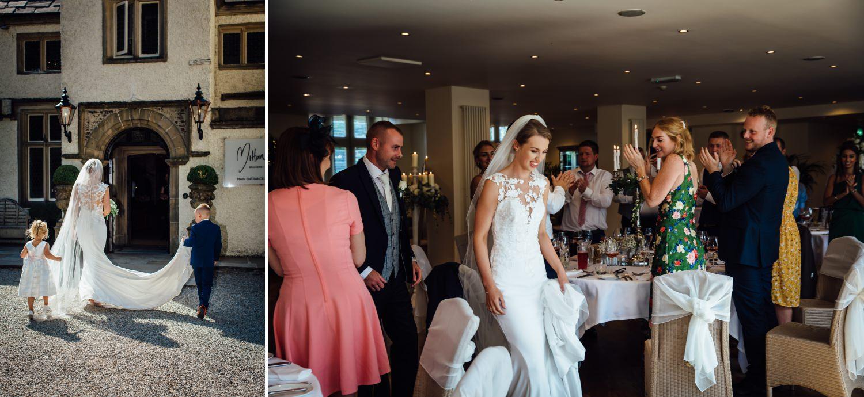 Wedding photography of speeches at Milton Hall, Lancashire
