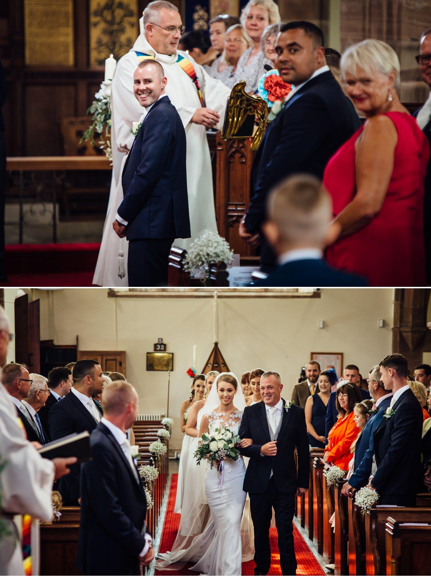 Wedding photography of wedding ceremony at Milton Hall, Lancashire