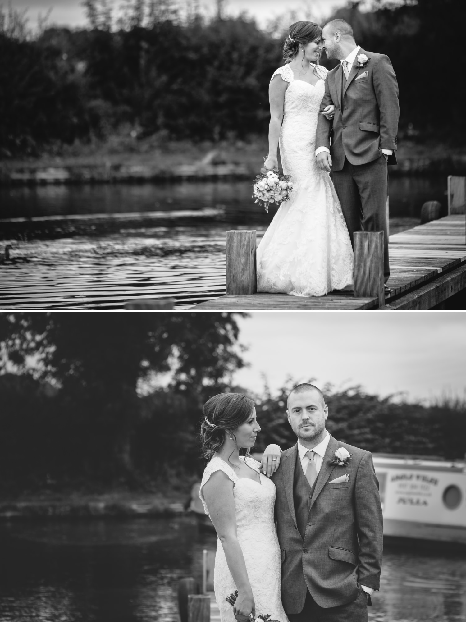 portraits by canal at Lion Quays, Oswestry, Shropshire