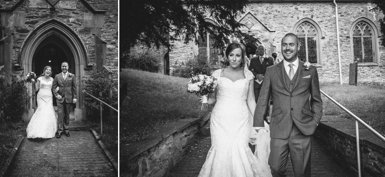Black and white photographs at Glyn Ceiriog Church, Nant Y Garth, Church Hill, Glyn Ceiriog, Llangollen wedding ceremony