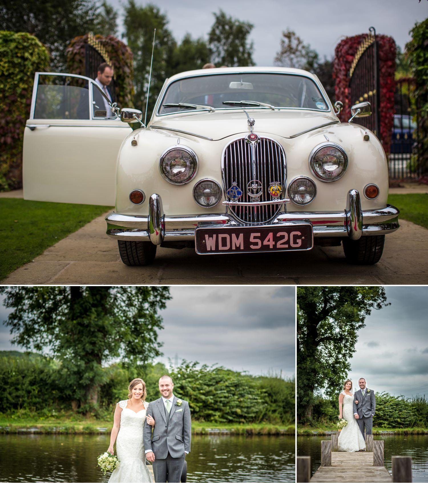 wedding car photograph at Lion Quays, Oswestry, Shropshire
