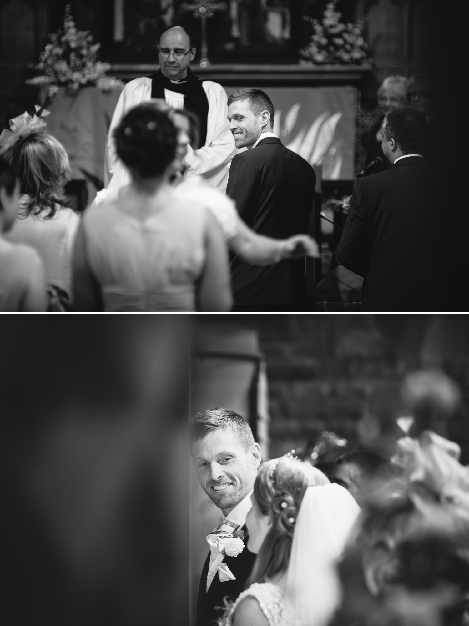Wedding photographs in church ceremony in Liverpool