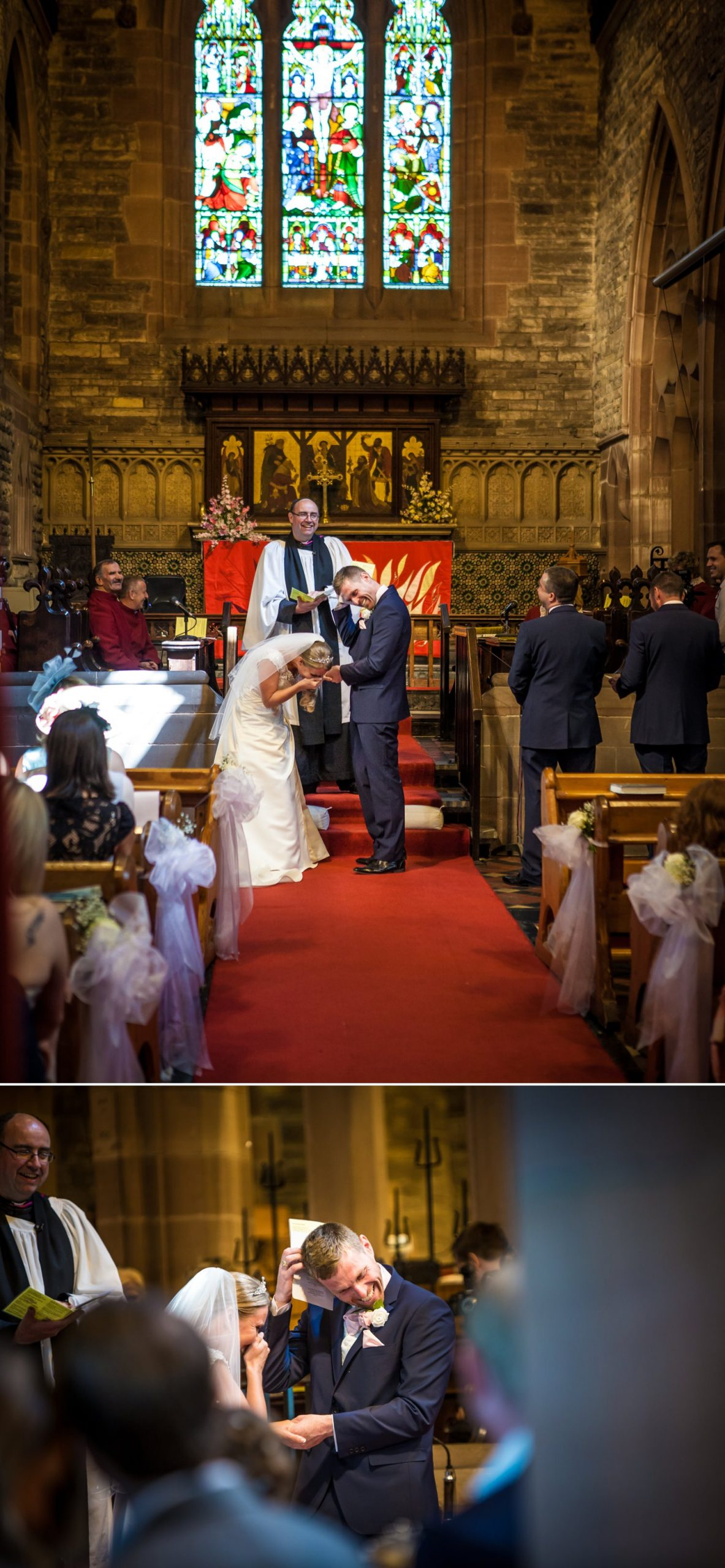 The ring gets stuck in a church wedding ceremony in Liverpool
