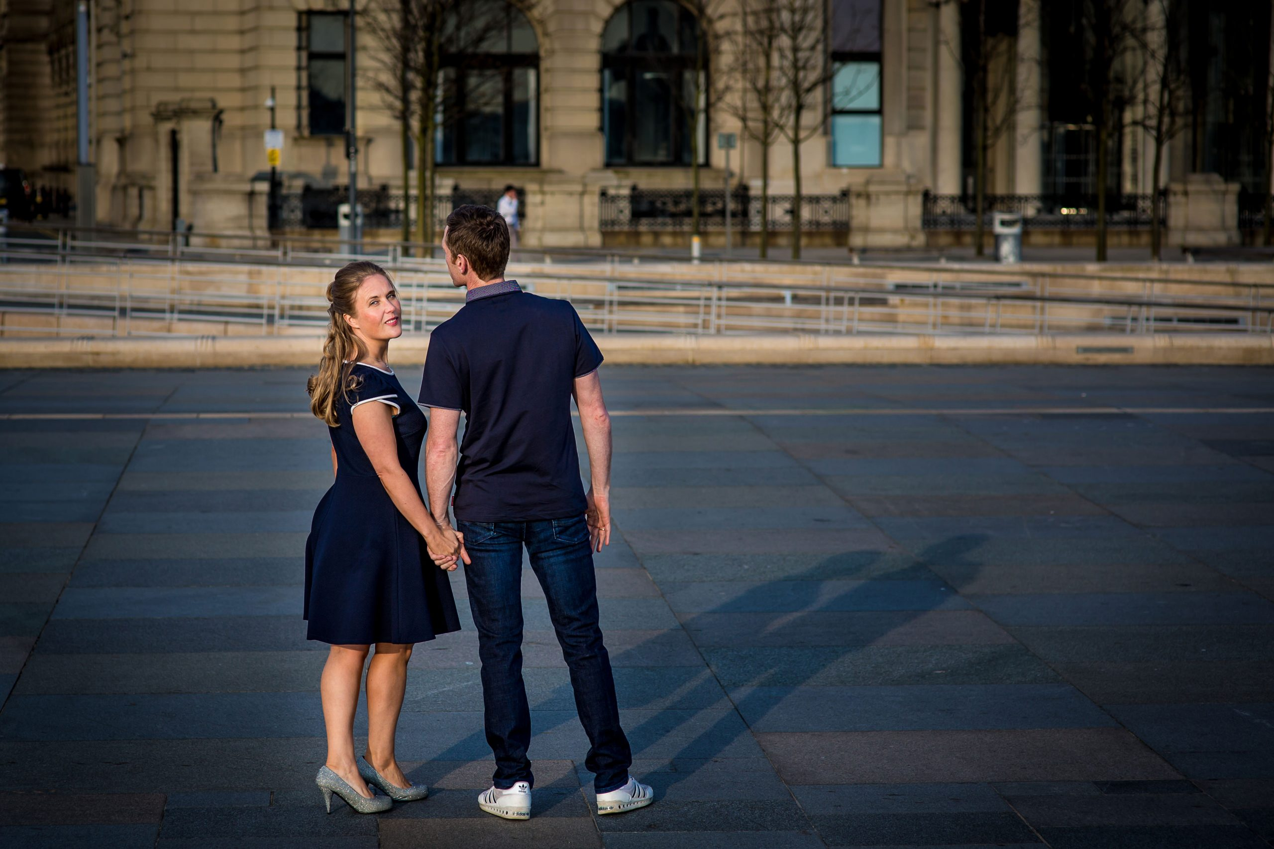 Wedding photography outside Liverpool Liver Building
