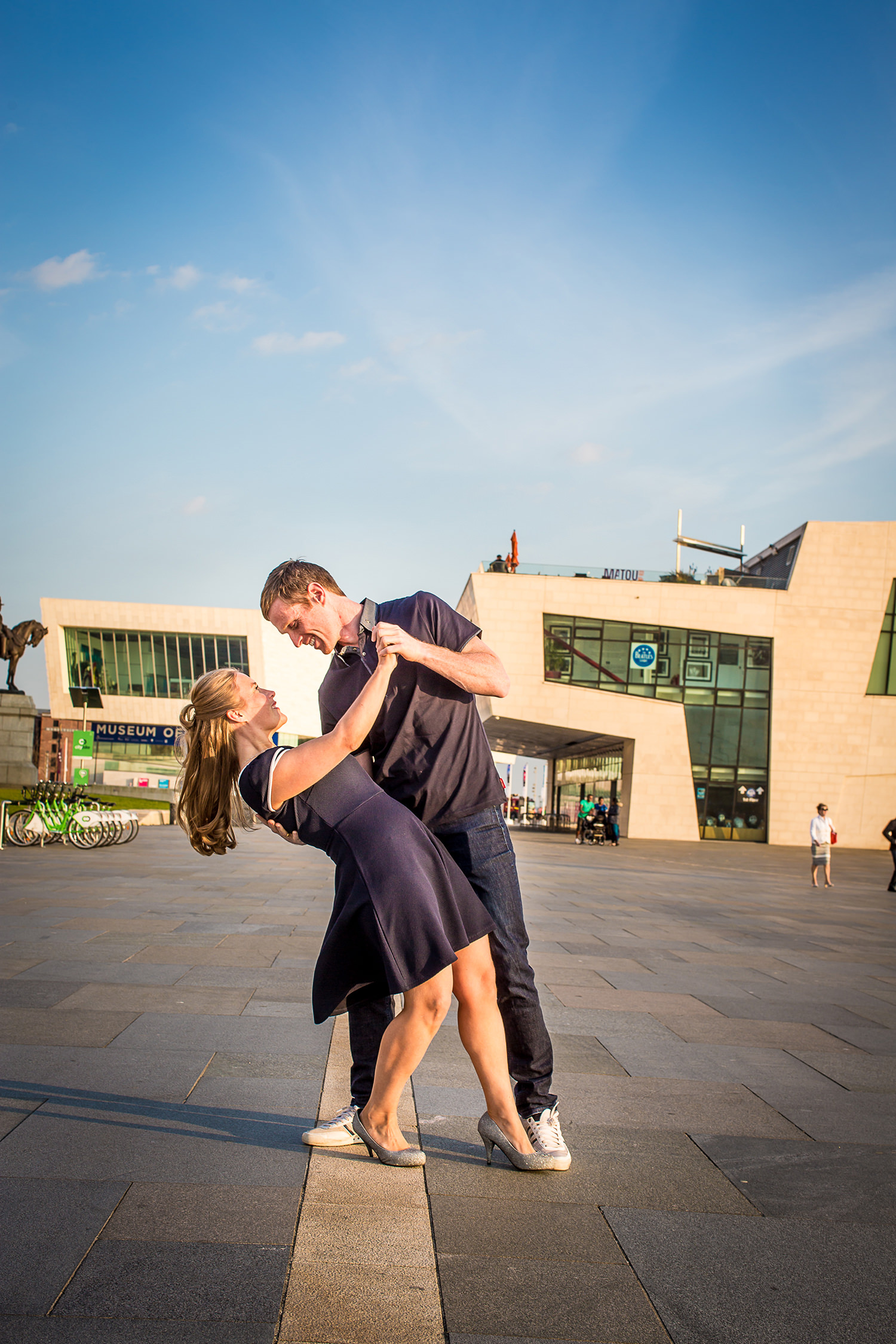 Wedding photography in Liverpool by Liver Building