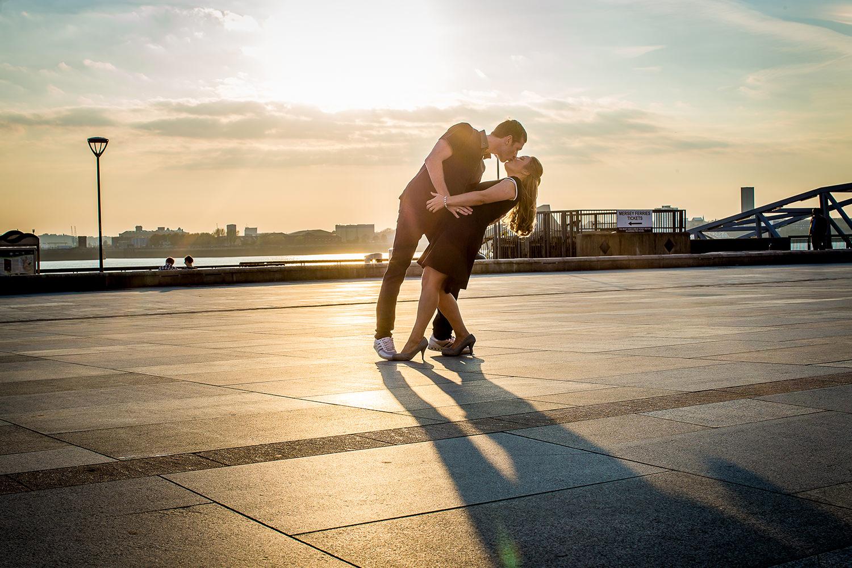 Sunset photographer at Liverpool Wedding Photoshoot