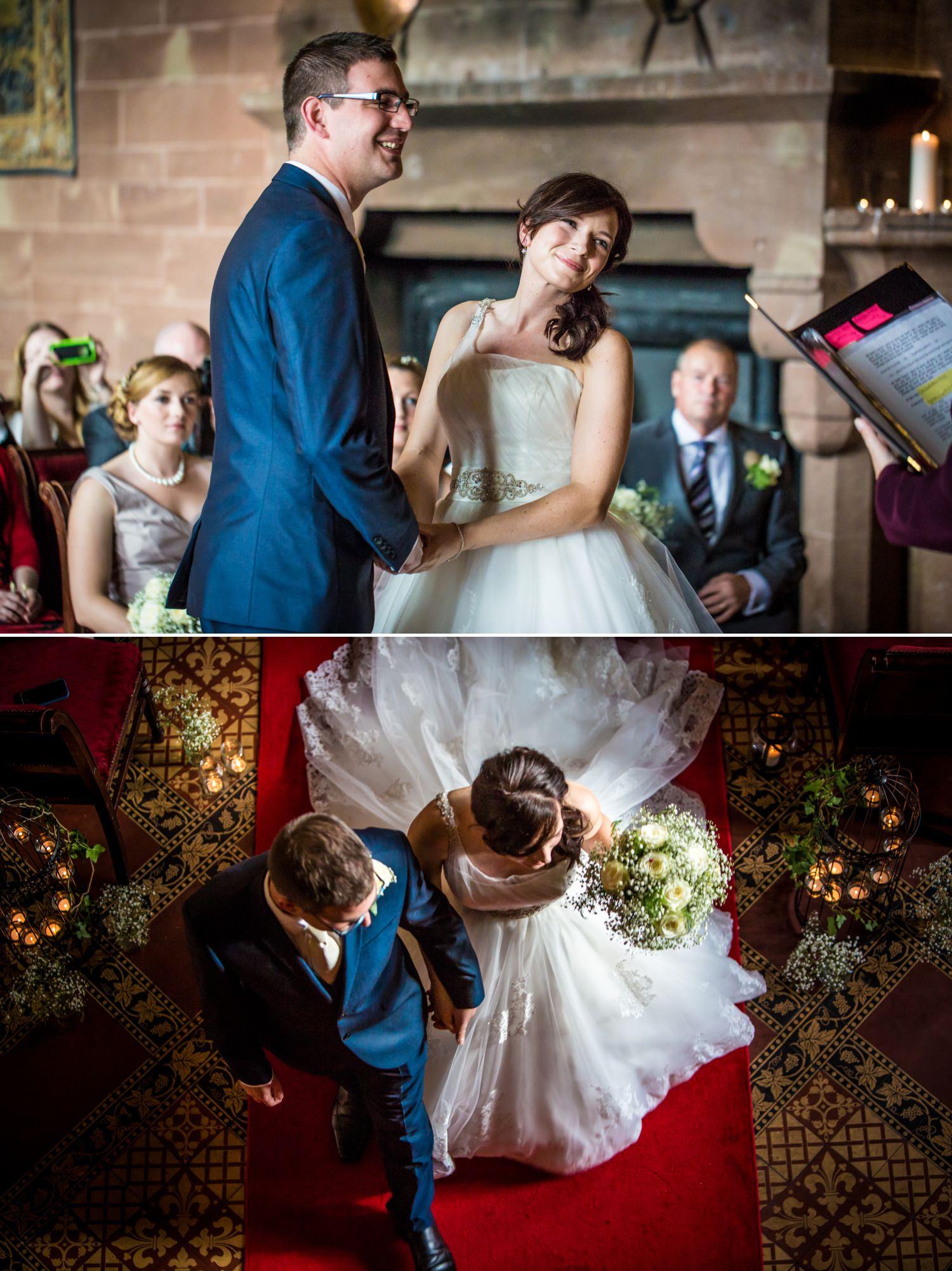 Wedding photographs Peckforton Castle