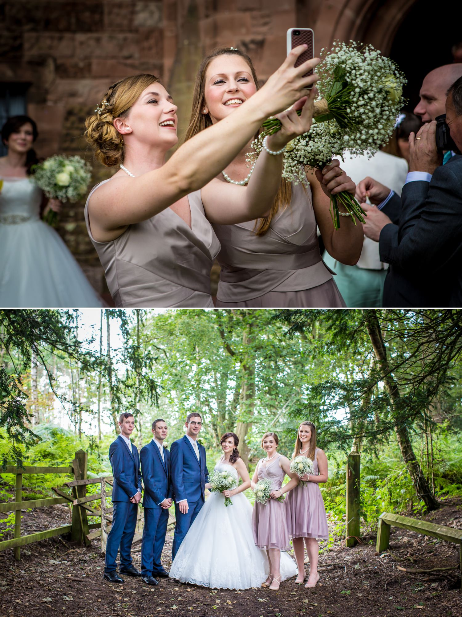 Wedding Photography of guests mingling at Peckforton Castle, Cheshire