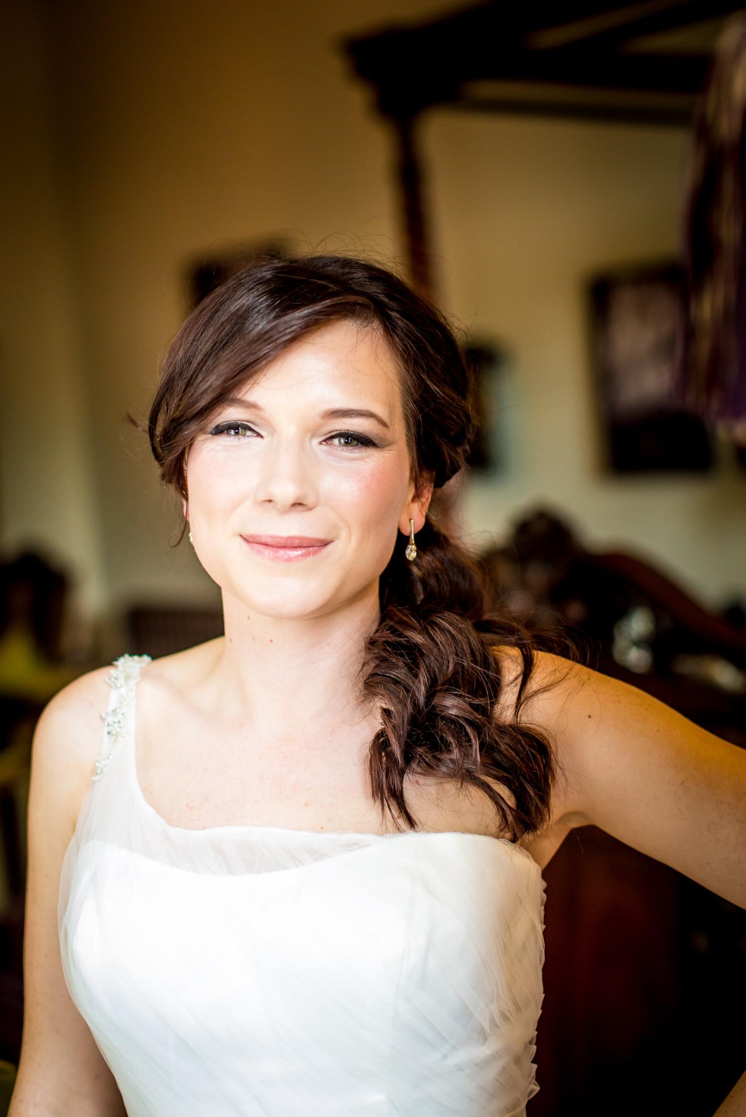 Wedding Photography portrait of bride at Peckforton Castle