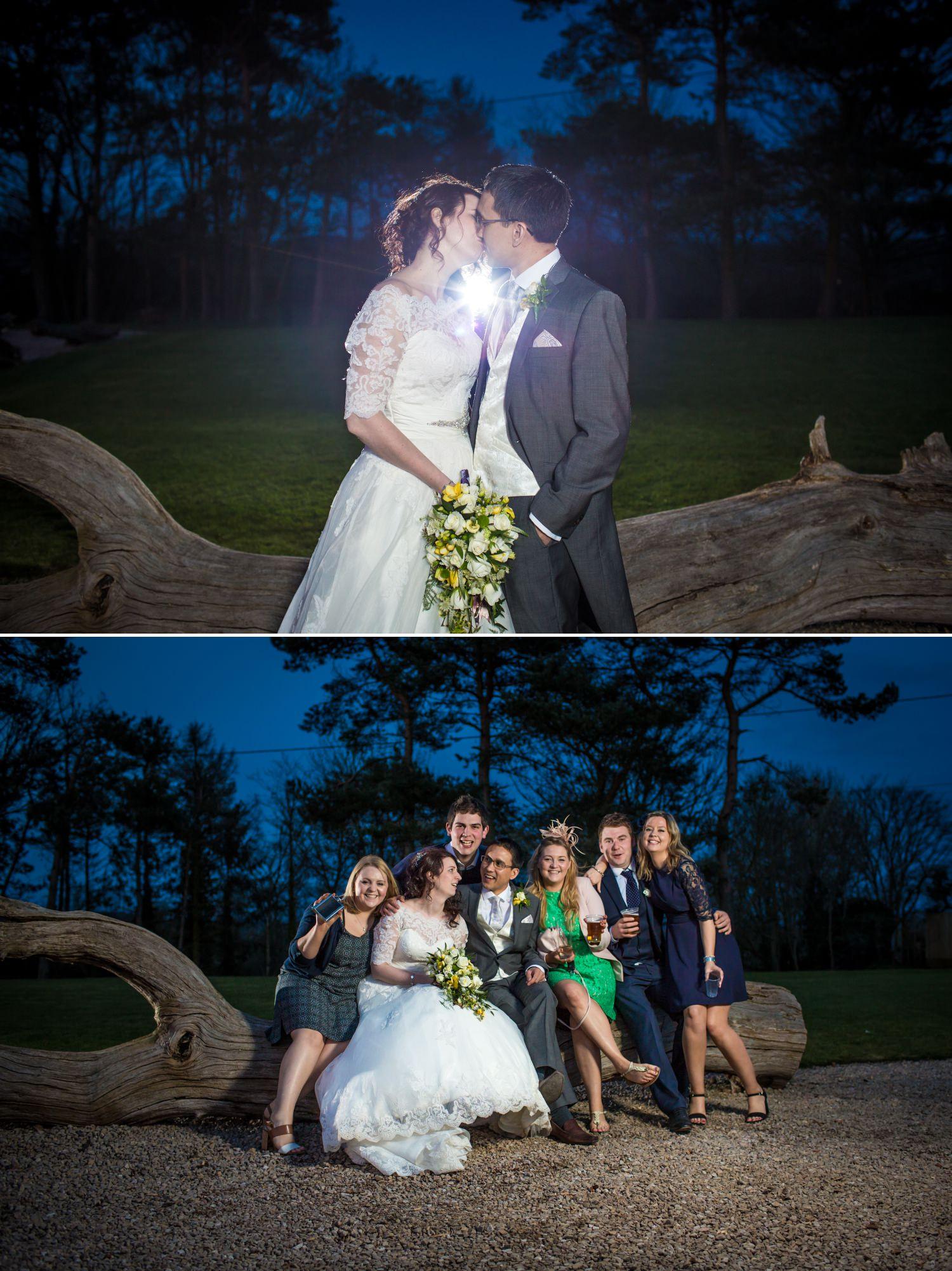 Evening wedding Photographs at Pimhill Barn, Shropshire