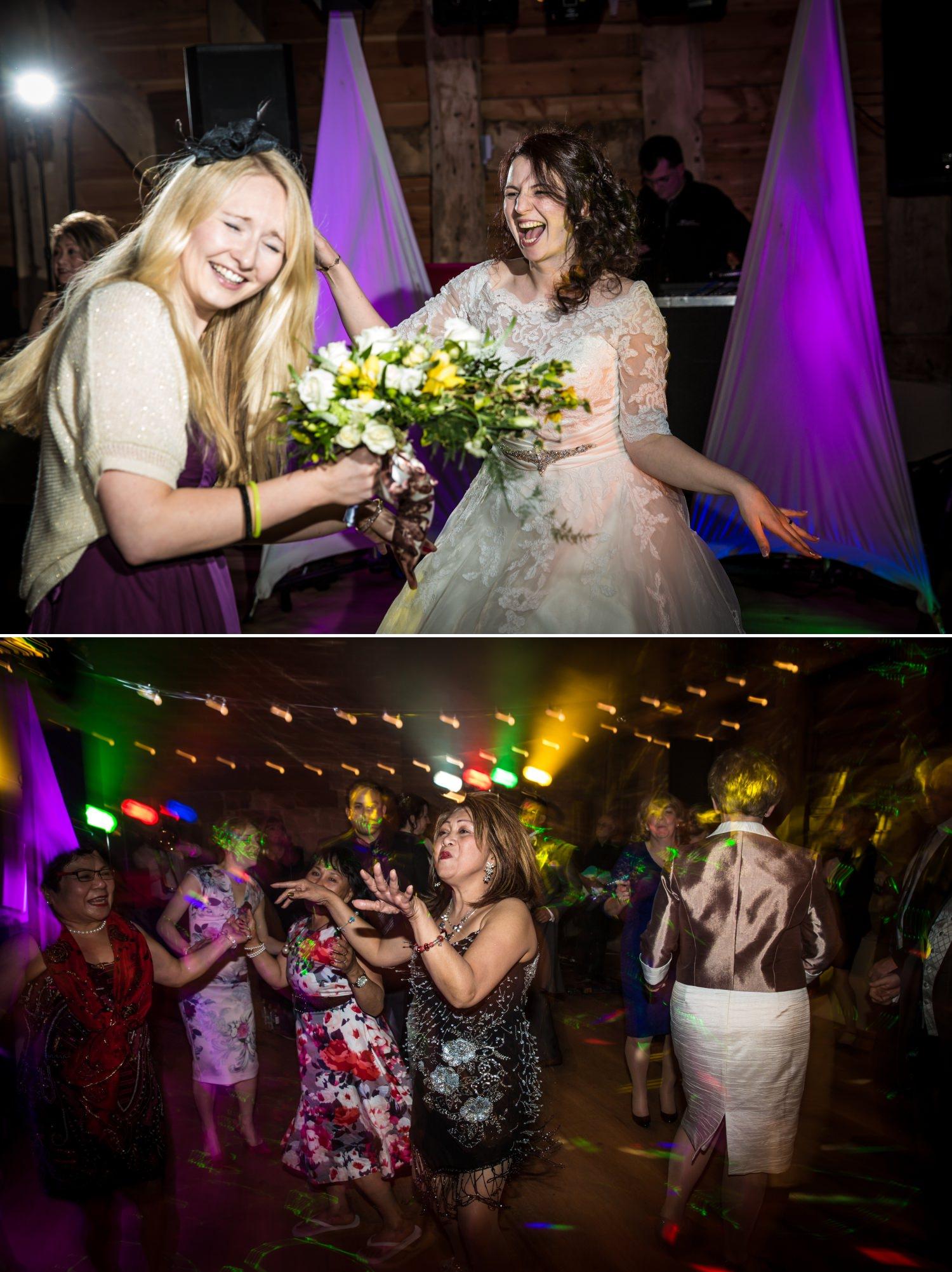 Evening dancing at wedding Photograph at Pimhill Barn, Shropshire