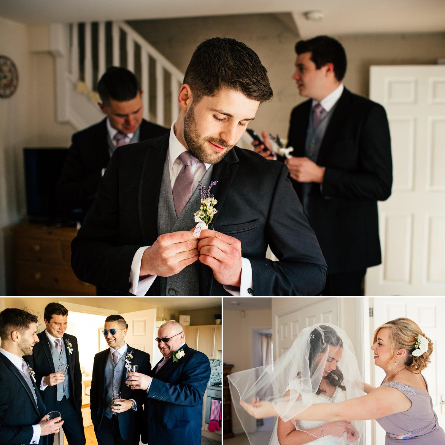 Plas Hafod Wedding Photographs boys getting ready
