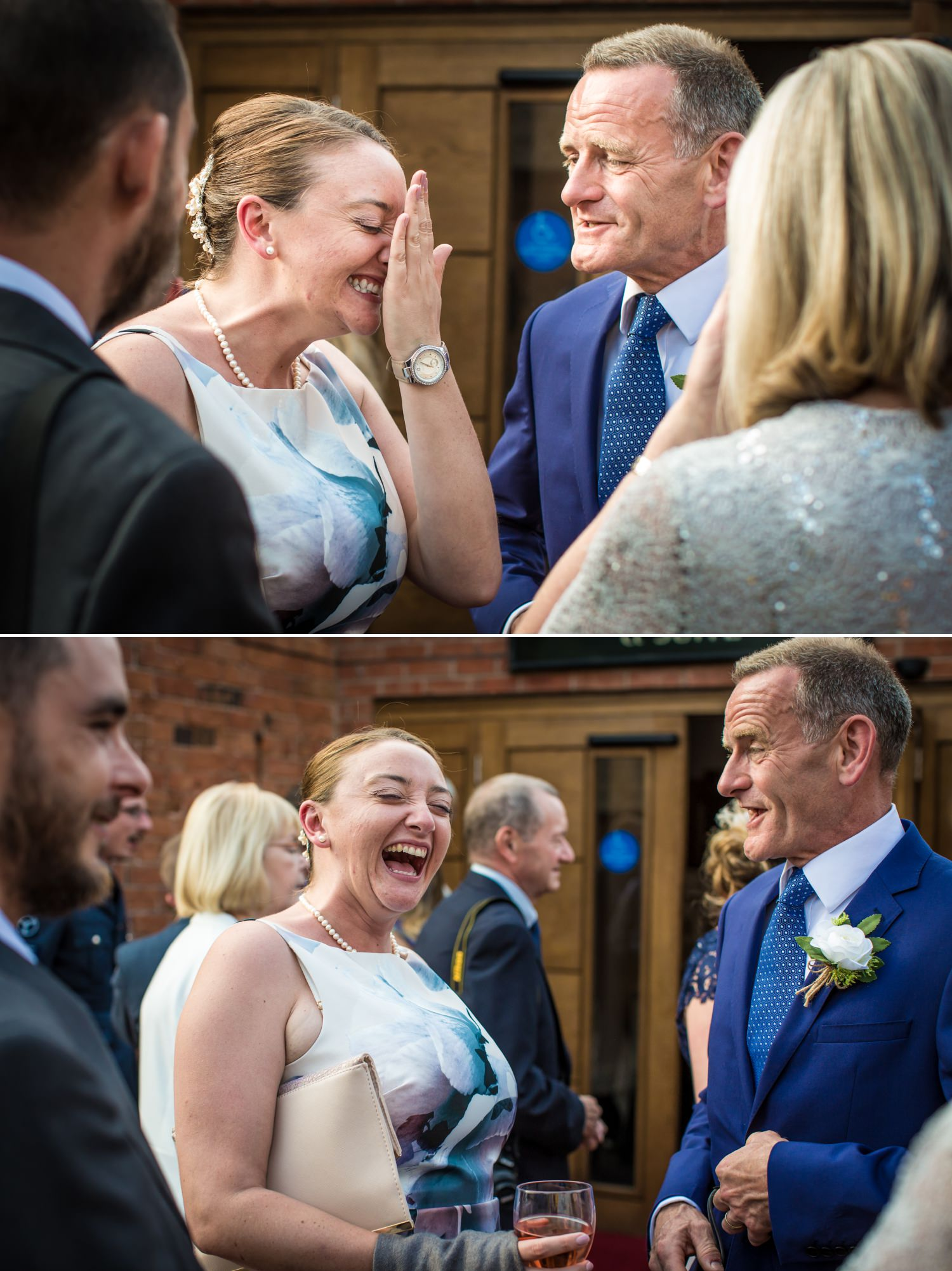 guests mingling Wedding Photograph at Carden Park