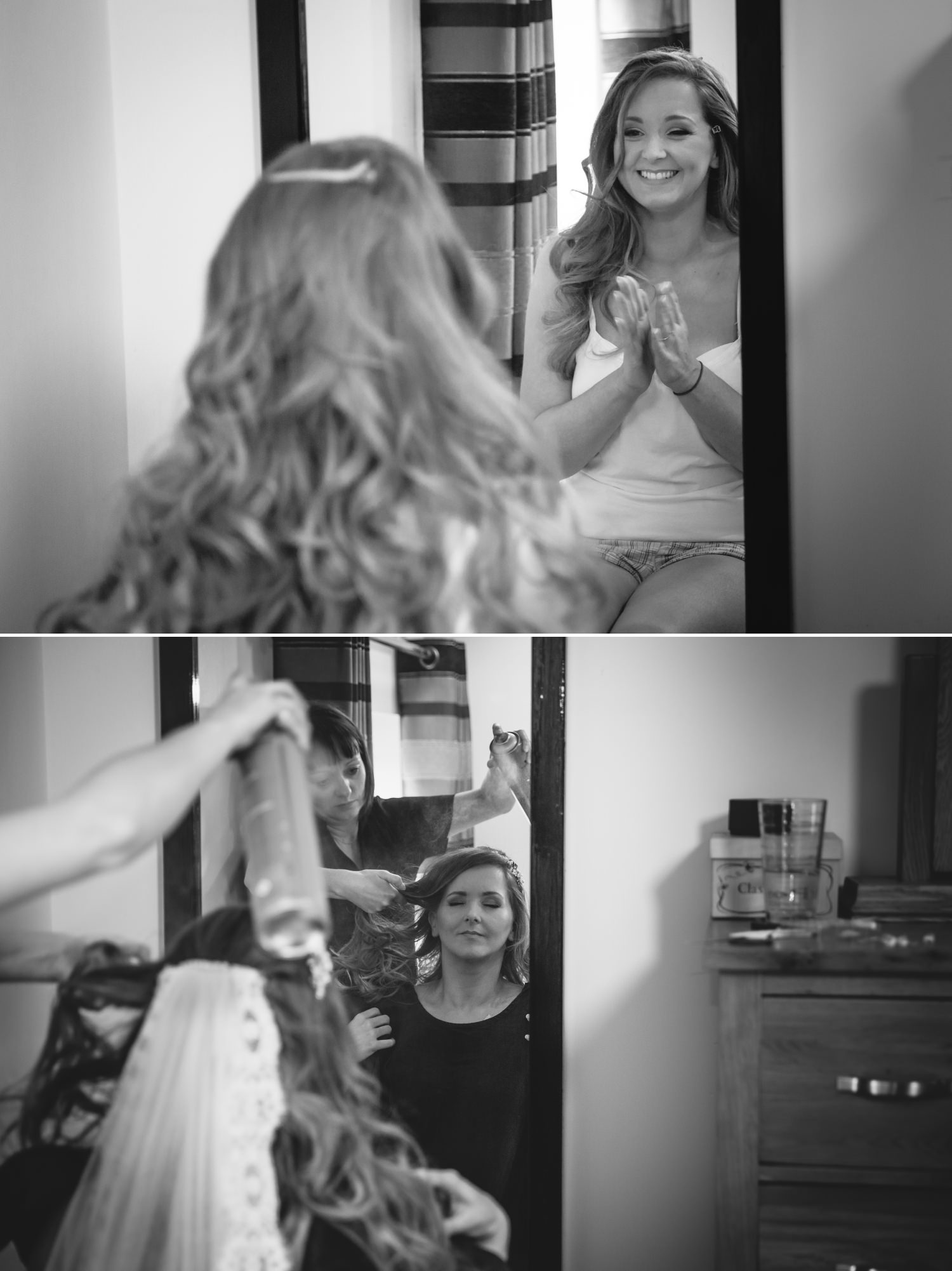 Wedding Photograph of bride getting ready at Carden Park