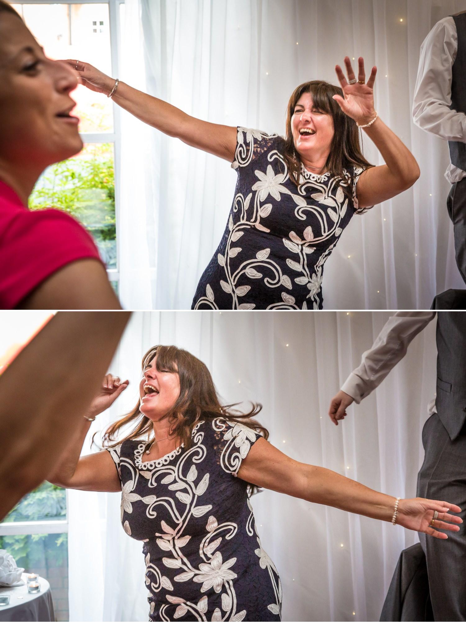 Wedding Photographer dancing Carden Park