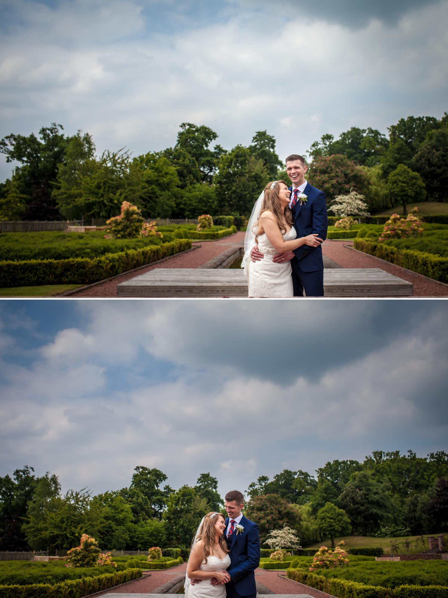 Garden portraits Wedding Photographs at Carden Park