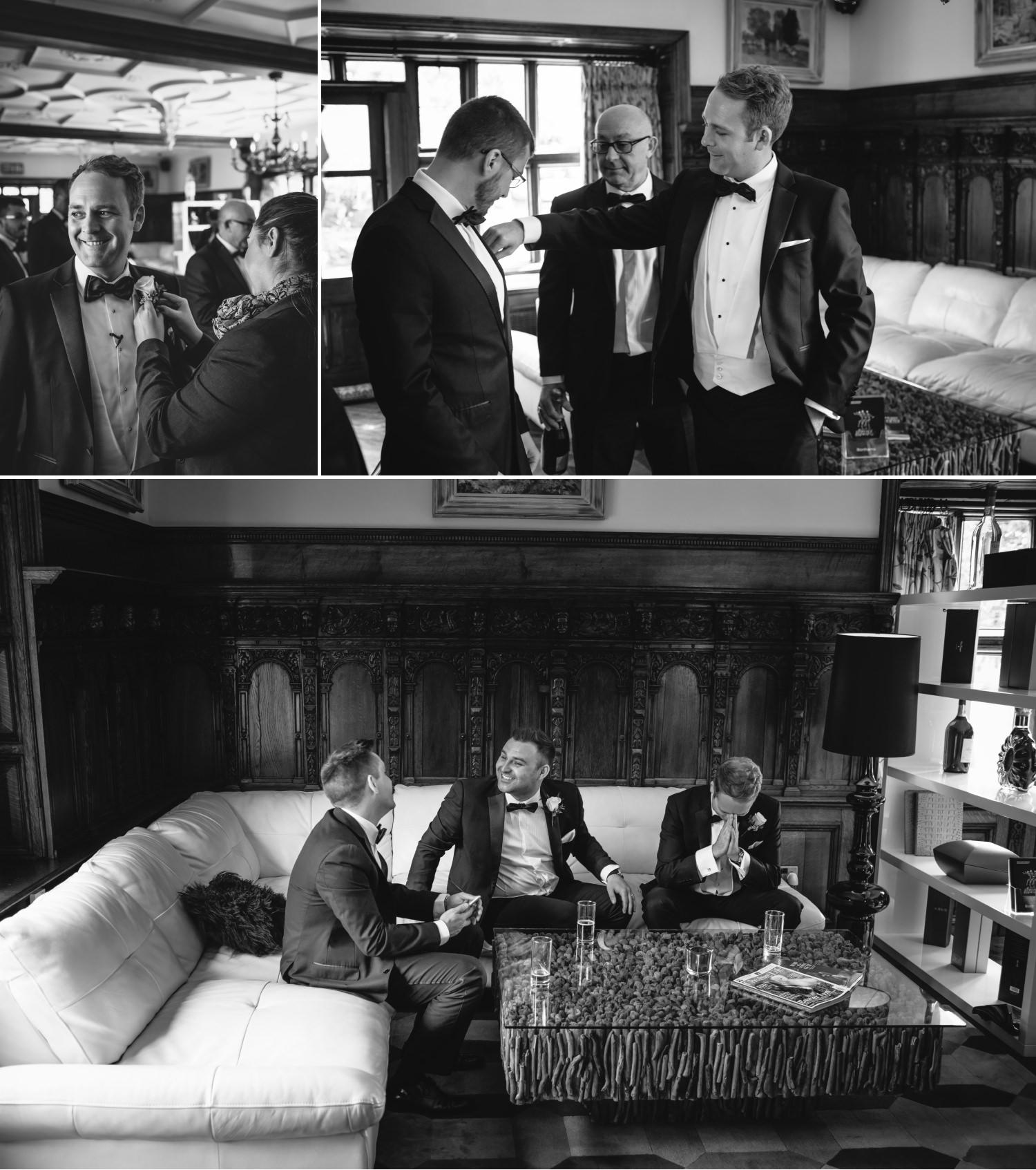 Hillbark hotel wedding venue photographs of boys getting ready