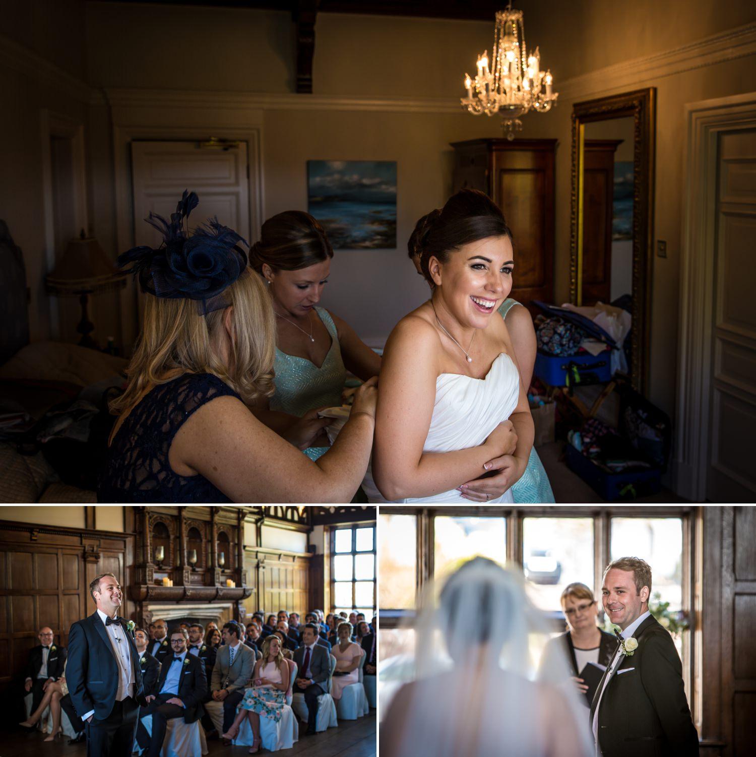 Girls getting ready at Hillbark hotel wedding venue