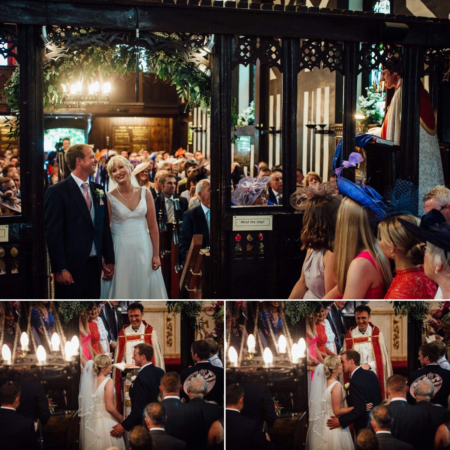 Siddington Church, Macclesfield wedding photo of ceremony