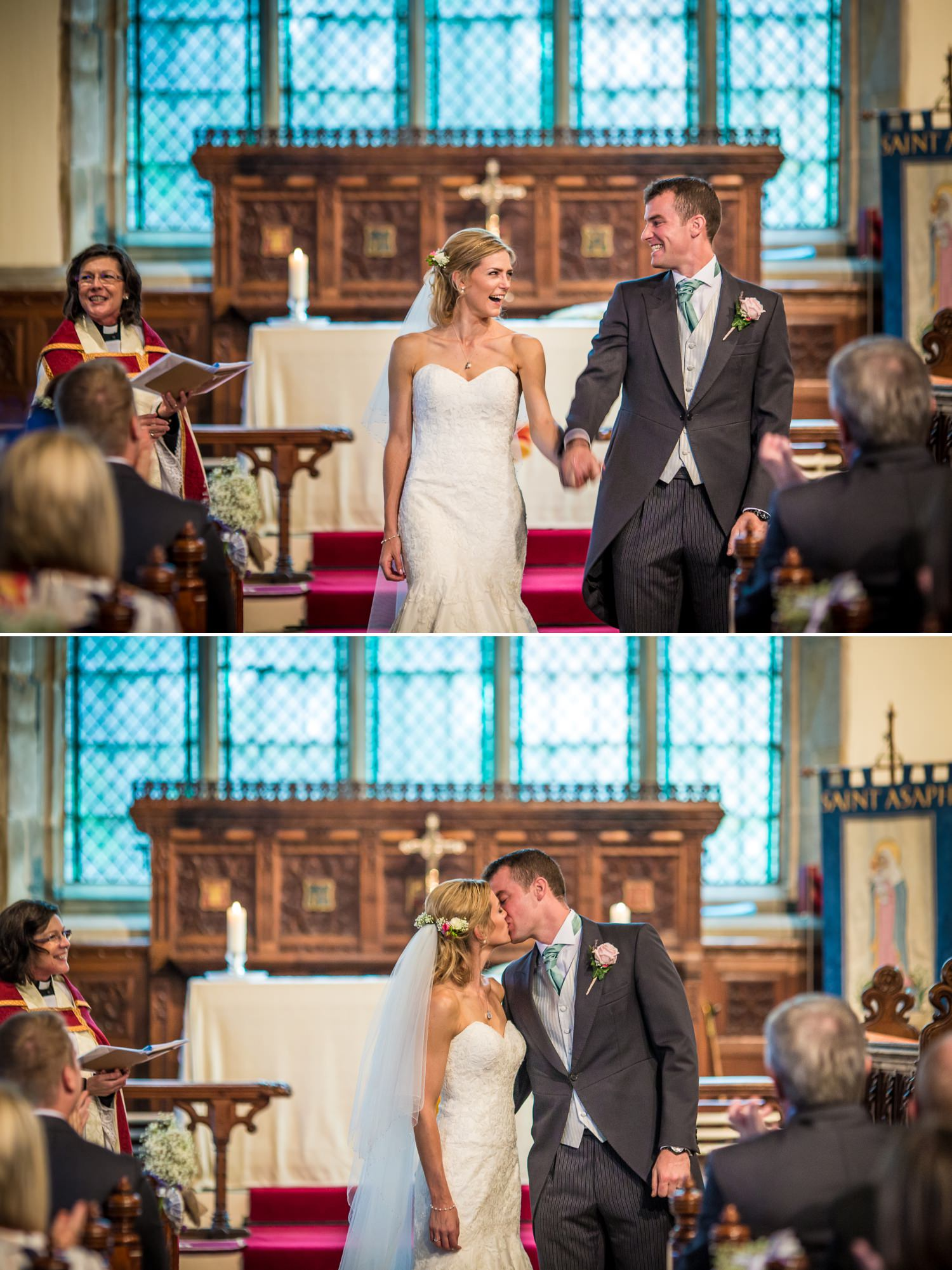 Pentre Mawr Country House Wedding Photography of first kiss
