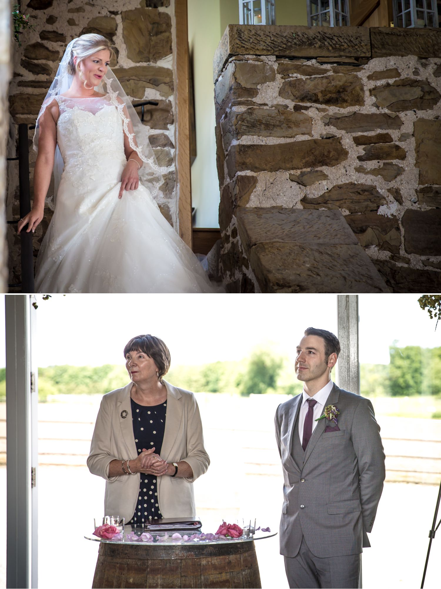 Bride arriving for Wedding photographer at Pentrehobyn Hall