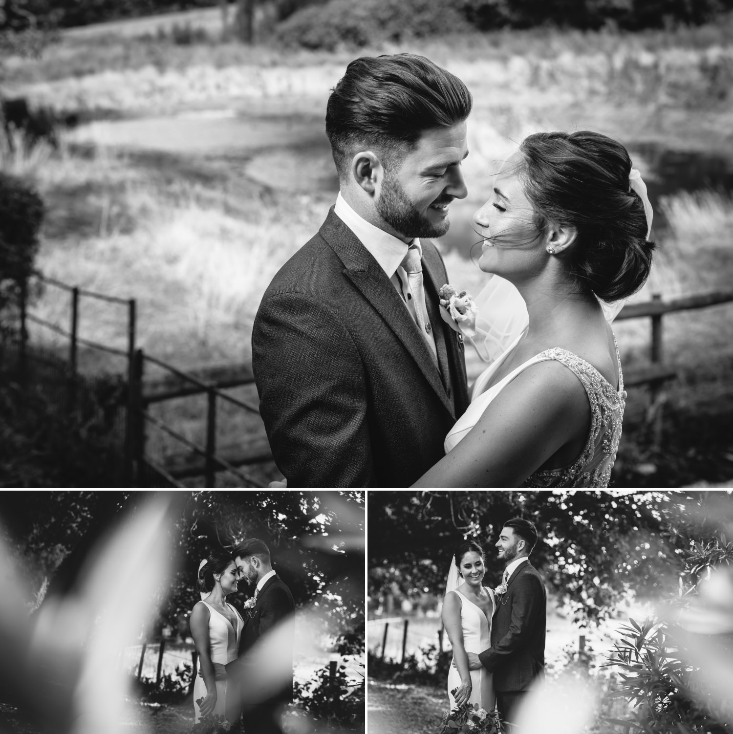 Black and White Photographs of wedding photography North Wales