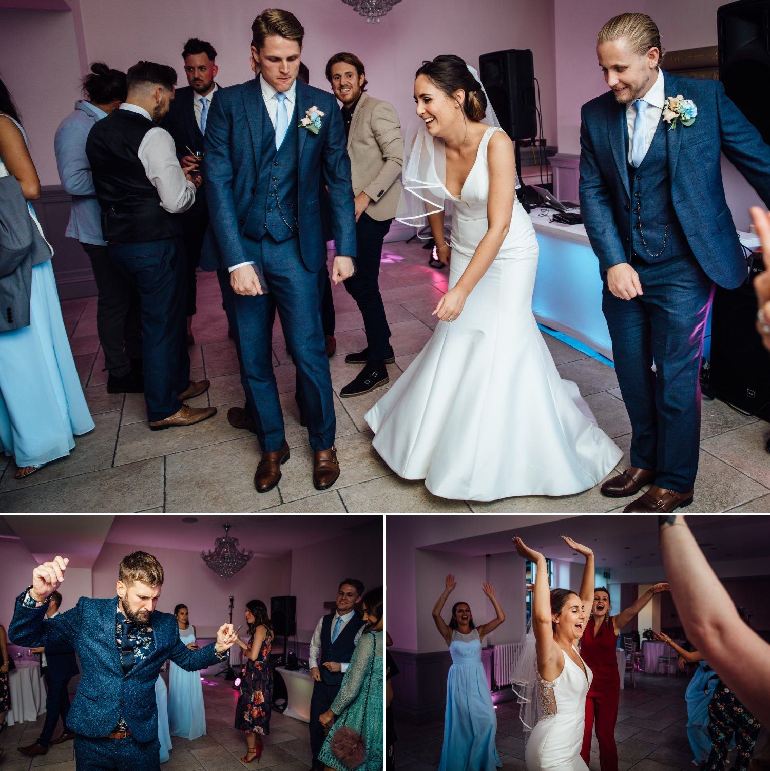 photography of the dance floor at Tyn Dwr Hall