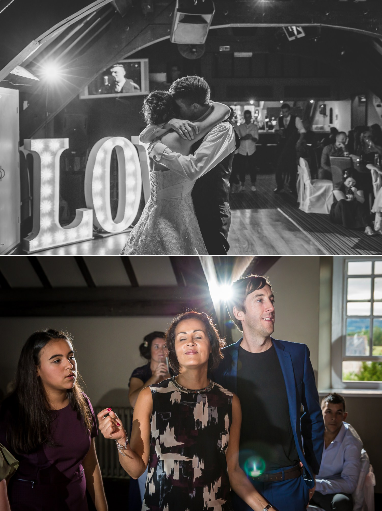Wedding photography of first dance  at Faenol Fawr
