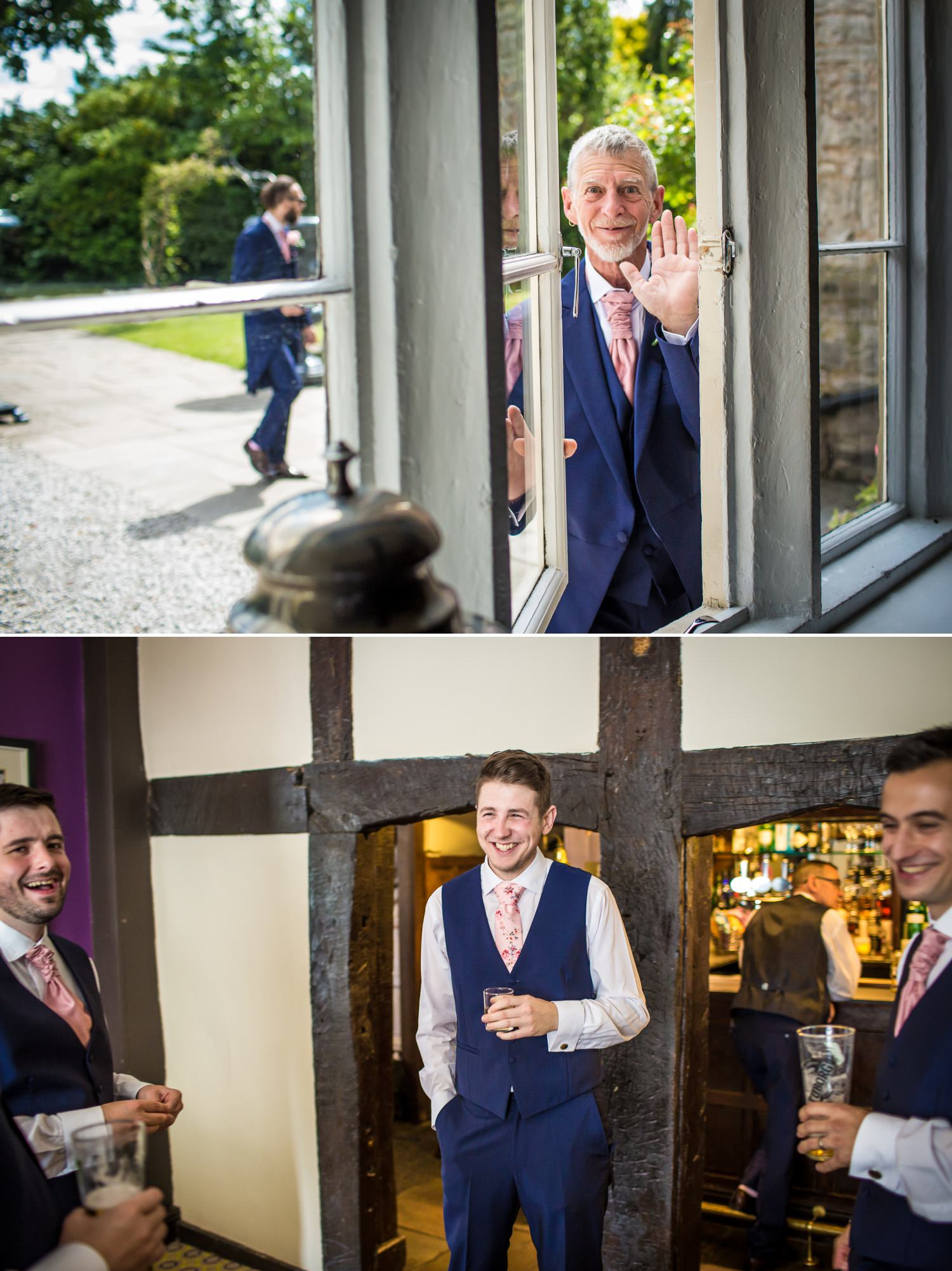 Wedding photography at Faenol Fawr of guests mingling