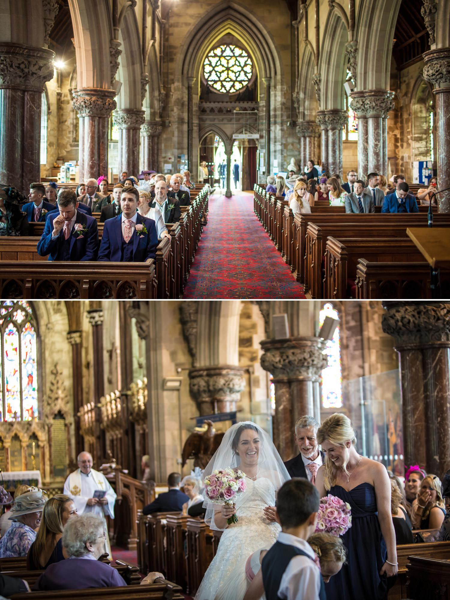 Wedding photography at Faenol Fawr church ceremony