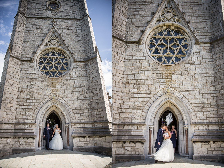 Wedding photography at Faenol Fawr  windy day