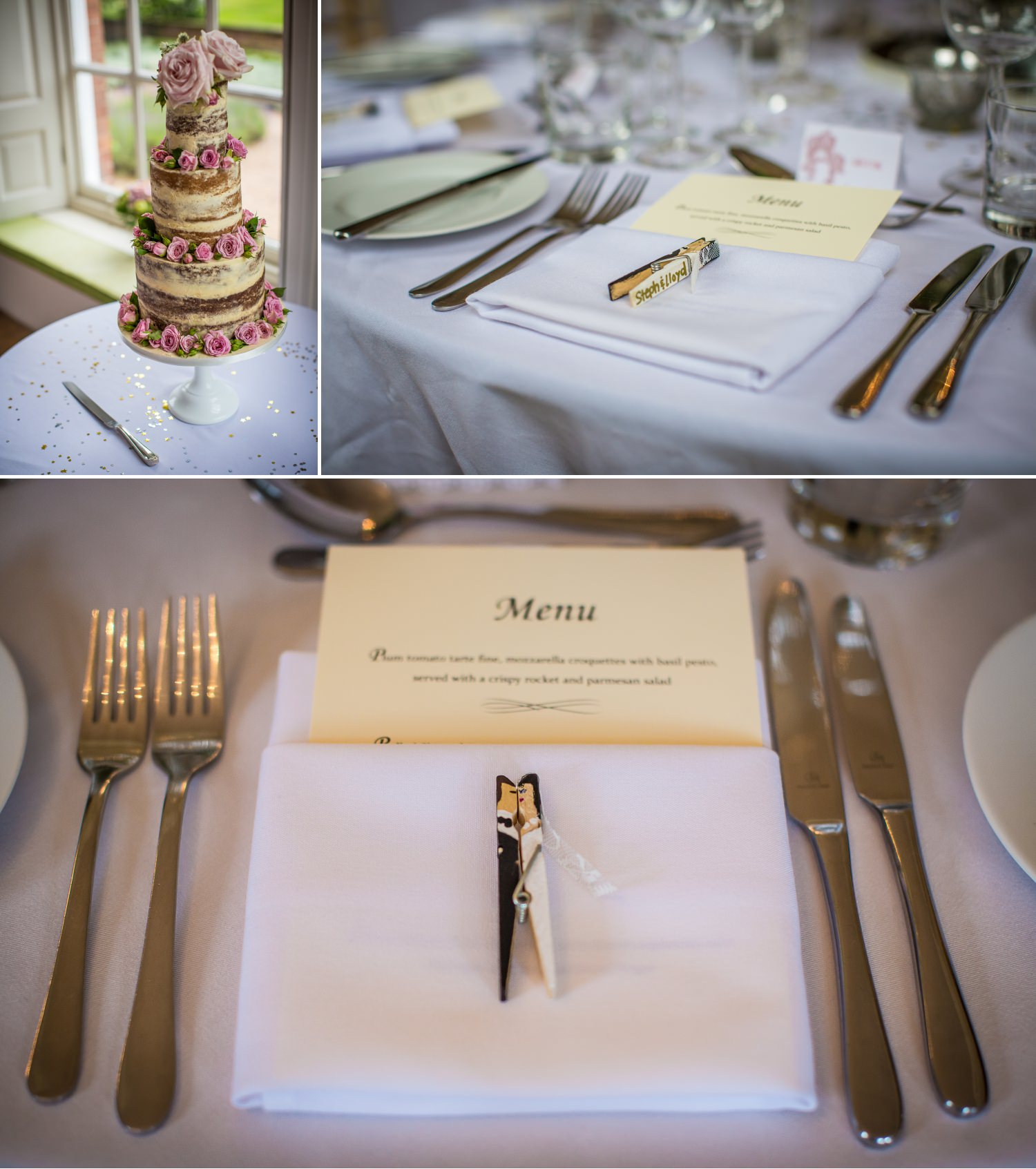 Wedding Photographs of tabke decoration at Iscoyd Park